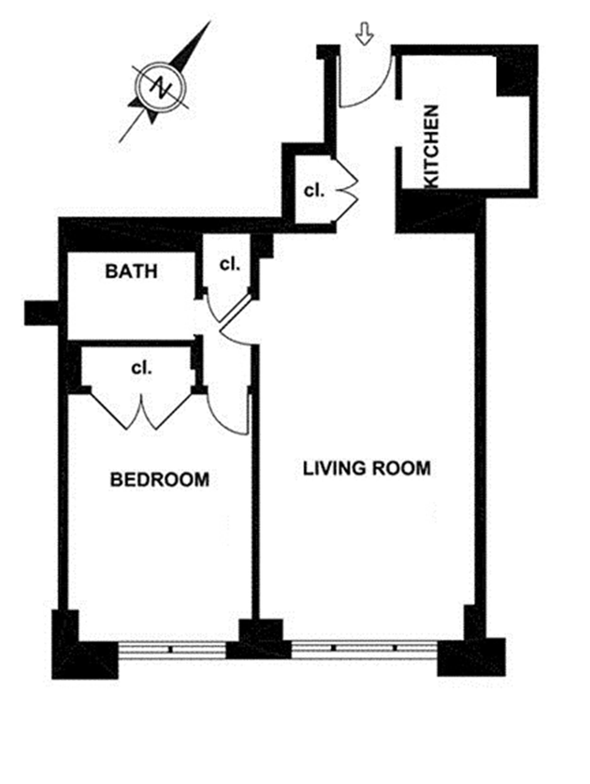 Floor plan of ONE LINCOLN PLAZA, 20 West 64th St, 39C - Lincoln Square, New York