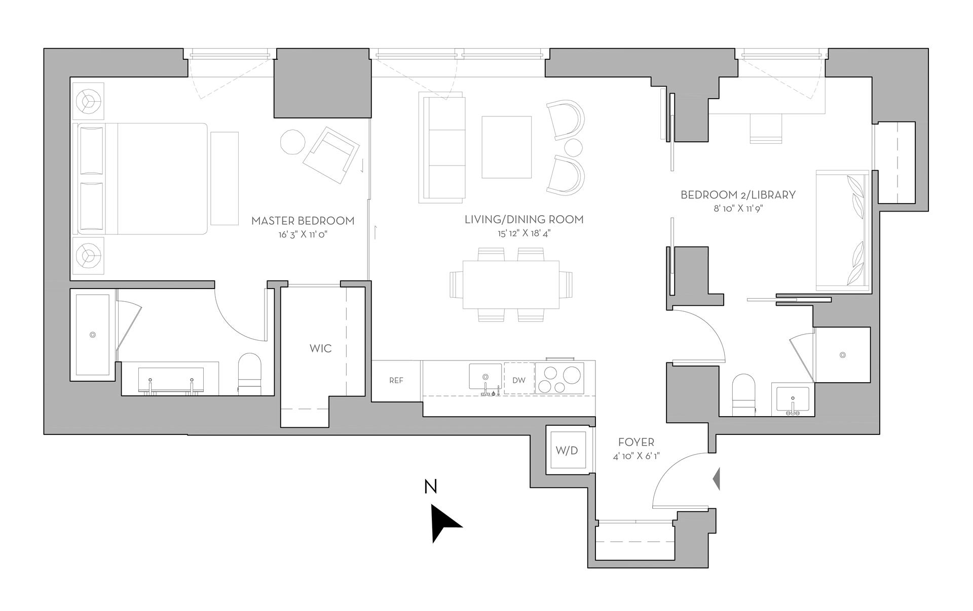 Floor plan of 135 West 52nd St, 11A - Midtown, New York