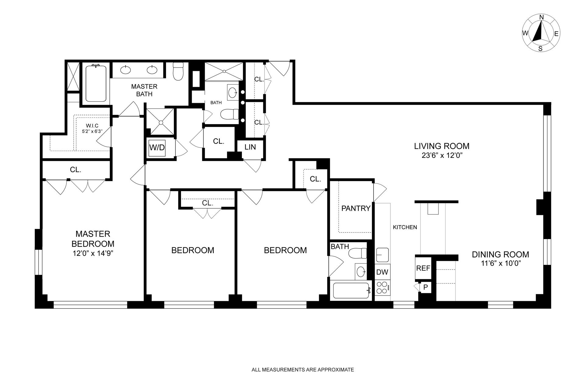 Floor plan of GREENWICH TOWERS, 105 West 13th St, 11CD - Greenwich Village, New York