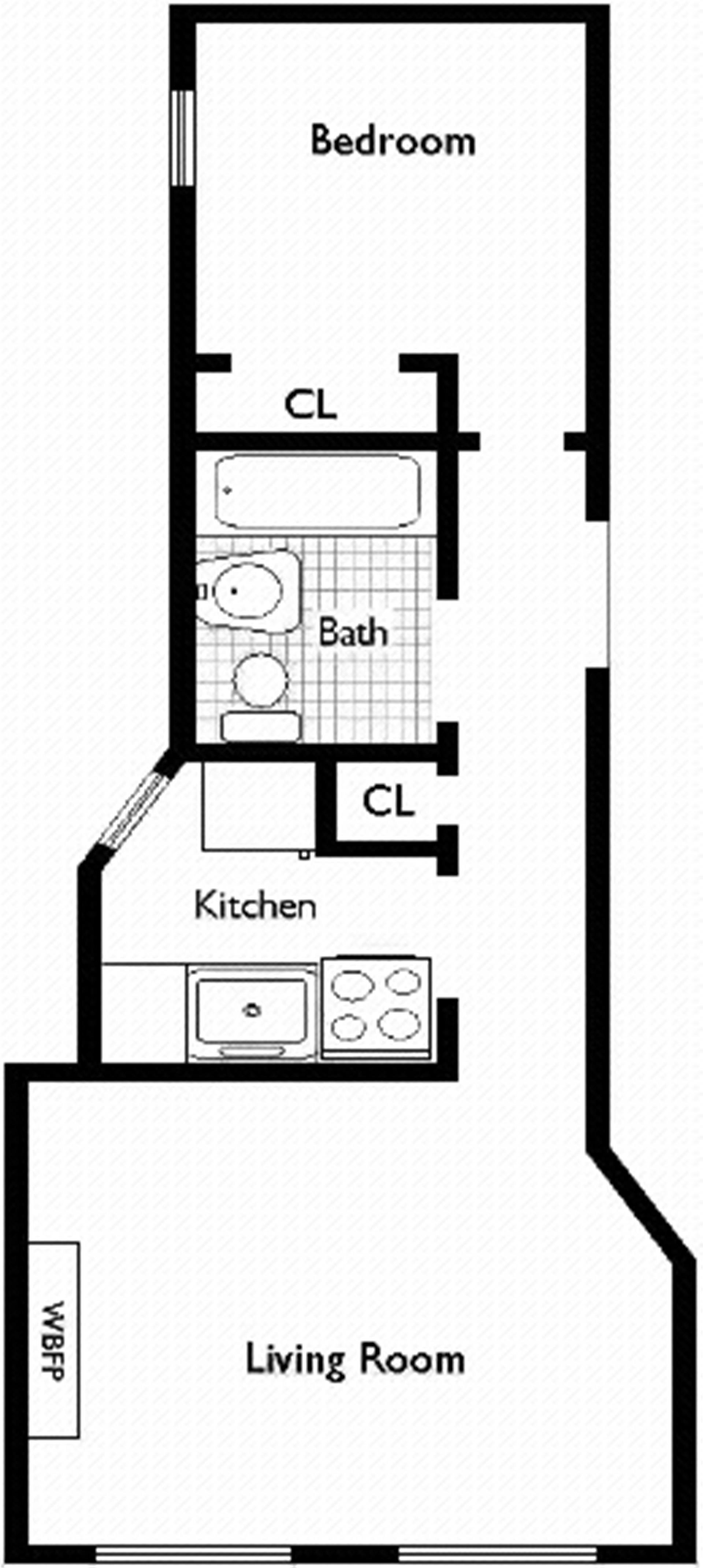 Floor plan of 46 West 65th St, 1B - Lincoln Square, New York