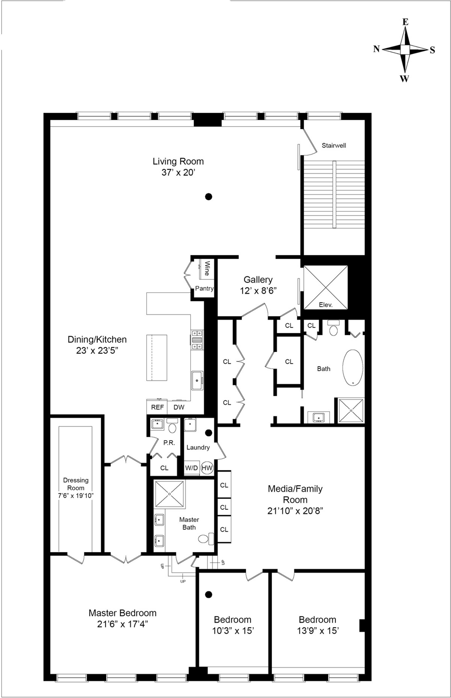 Floor plan of WOOSTER OWNERS INC., 101 Wooster St, 2FL - SoHo - Nolita, New York