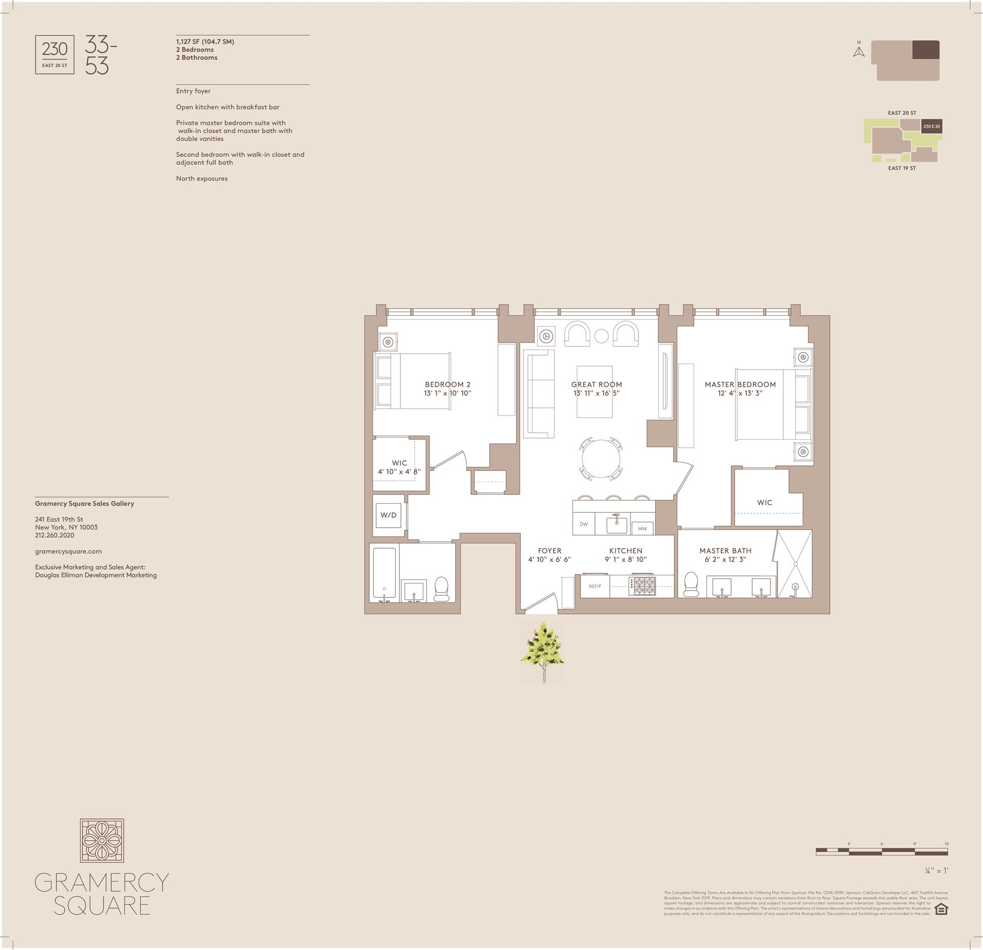 Floor plan of Gramercy Square, 230 East 20th St, 53 - Gramercy - Union Square, New York