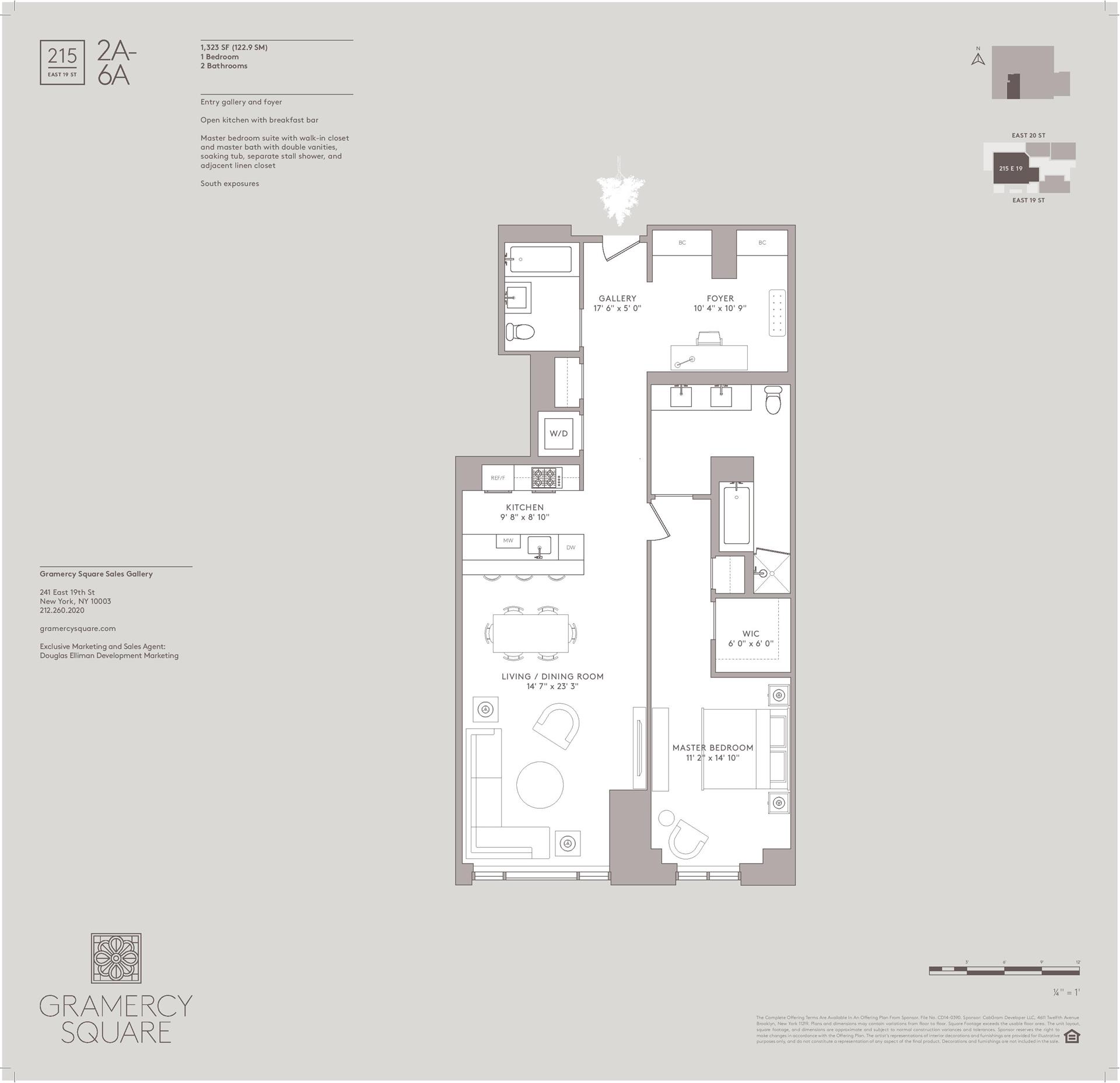 Floor plan of Gramercy Square, 215 East 19th St, 5A - Gramercy - Union Square, New York