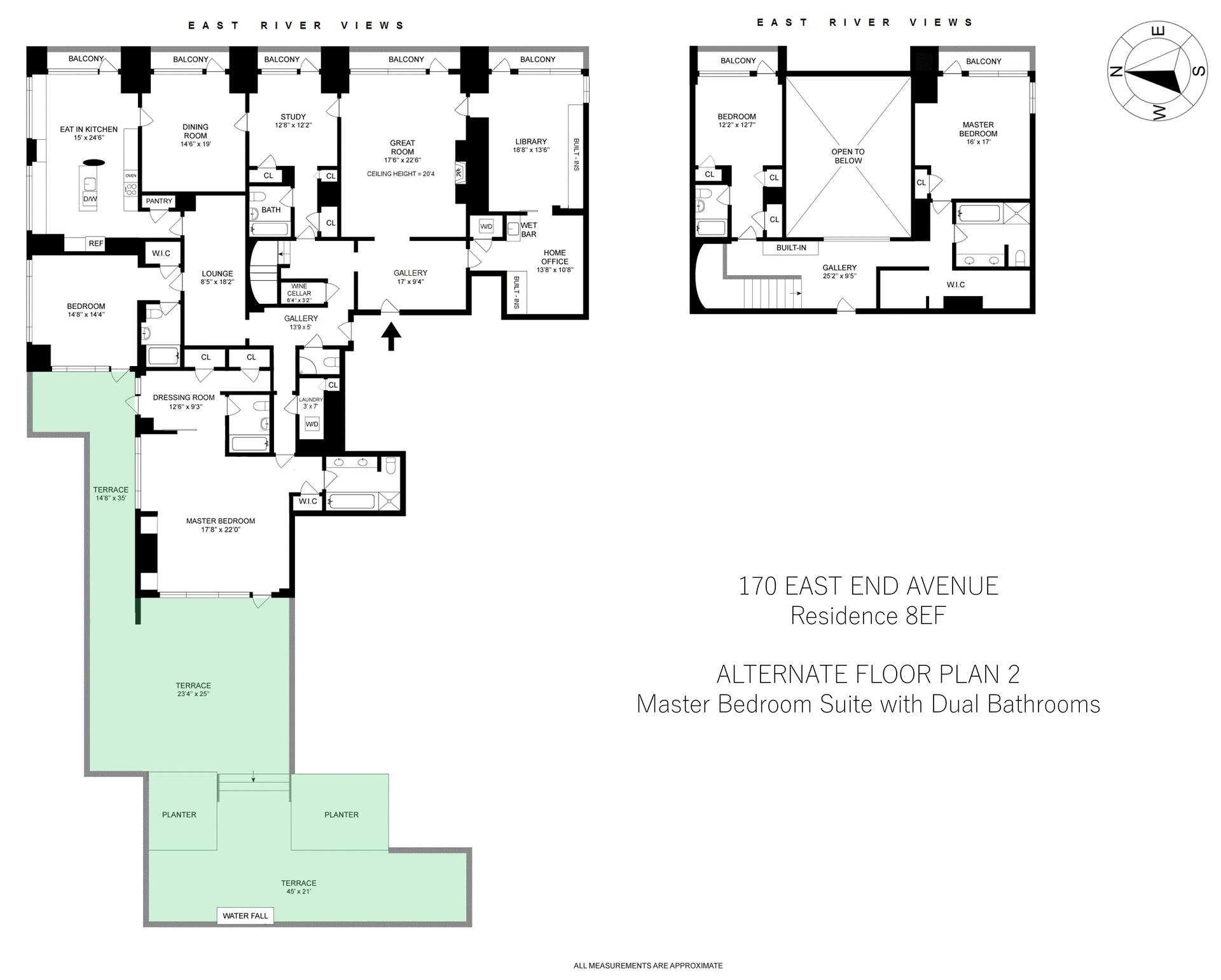 Floor plan of 170 East End Avenue, 8EF - Upper East Side, New York