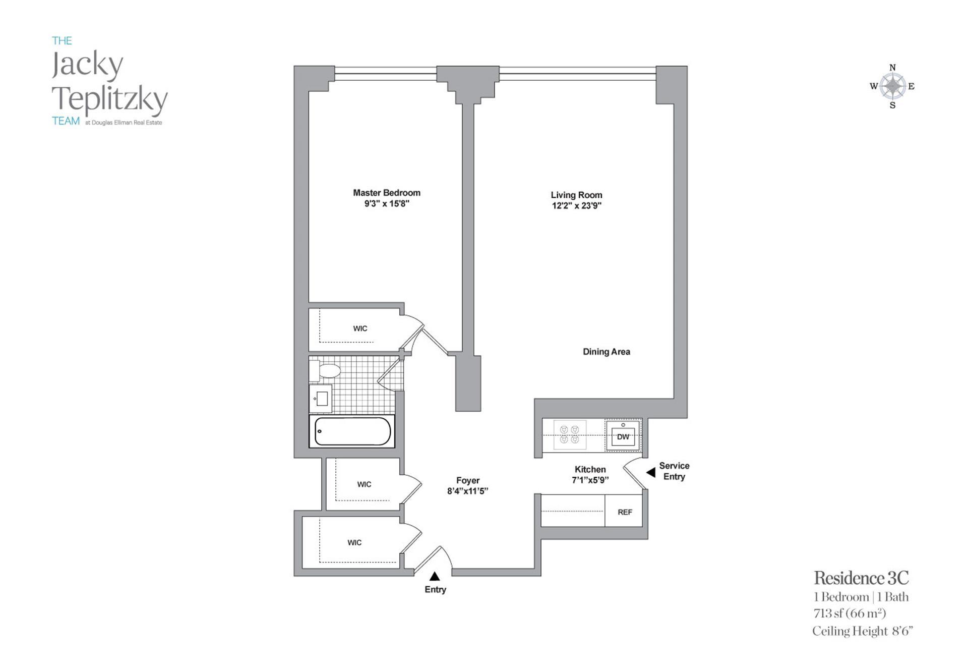 Floor plan of 715 Park Avenue, 3C - Upper East Side, New York