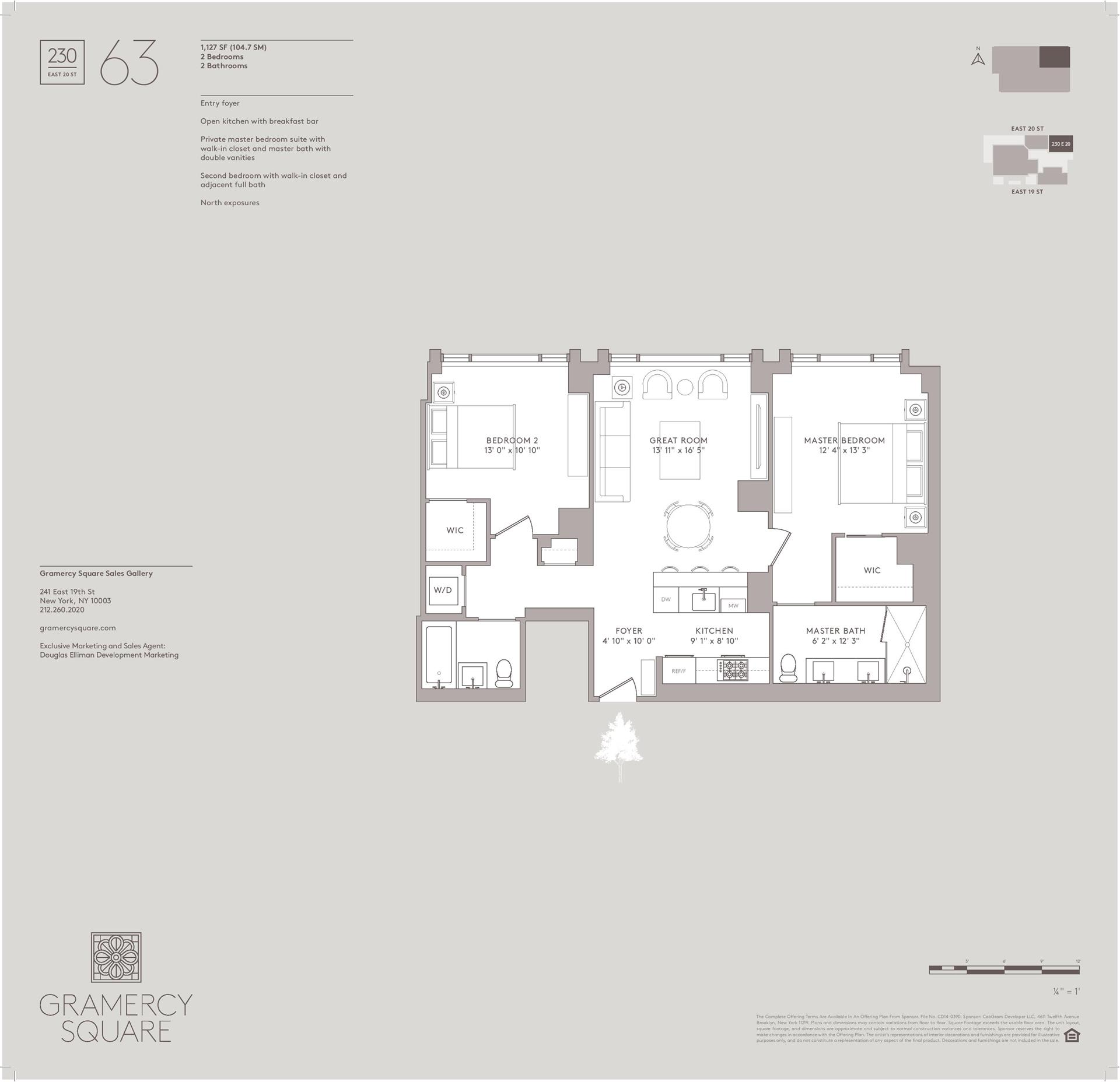 Floor plan of Gramercy Square, 230 East 20th St, 63 - Gramercy - Union Square, New York