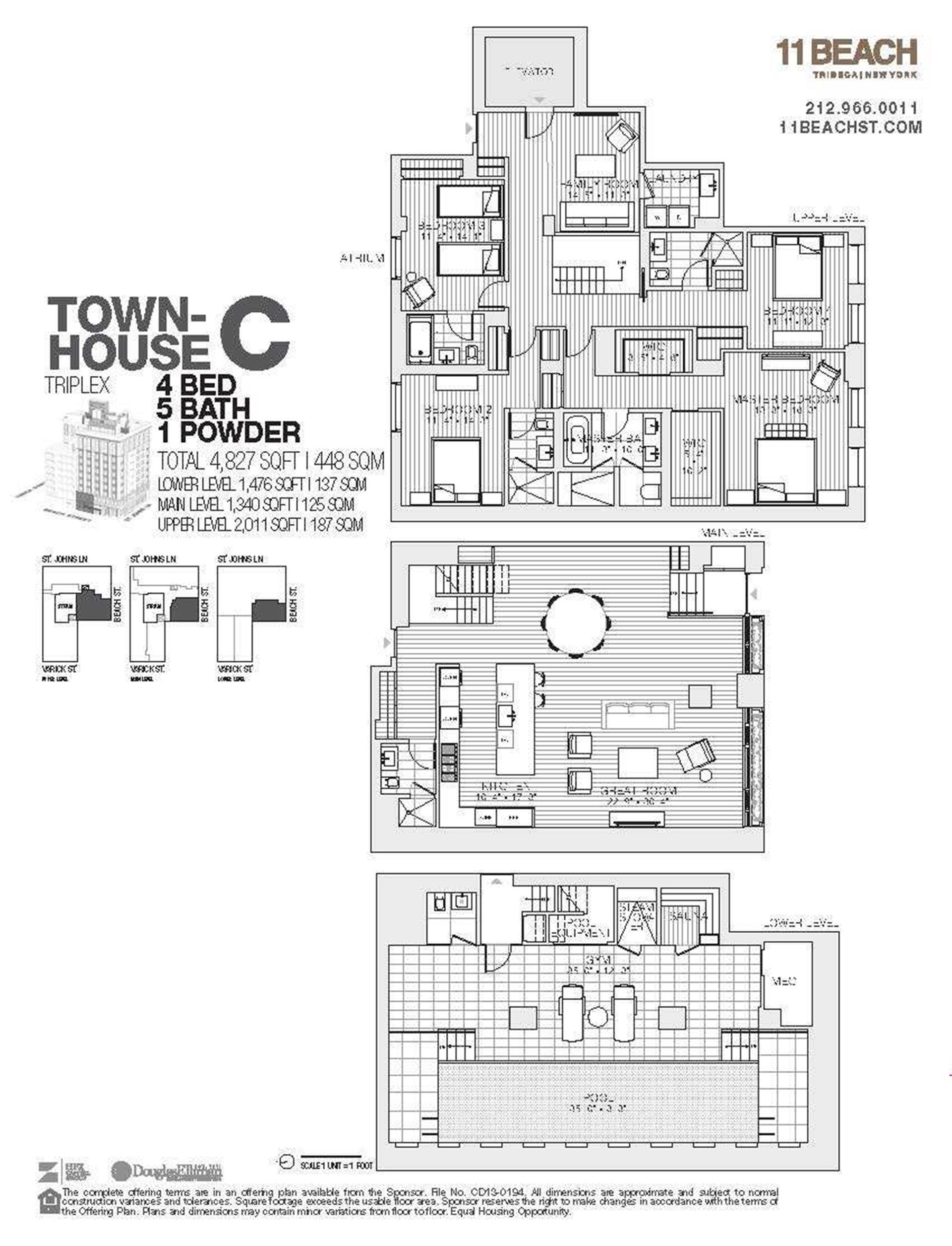 Floor plan of 11 Beach St, THSC - TriBeCa, New York