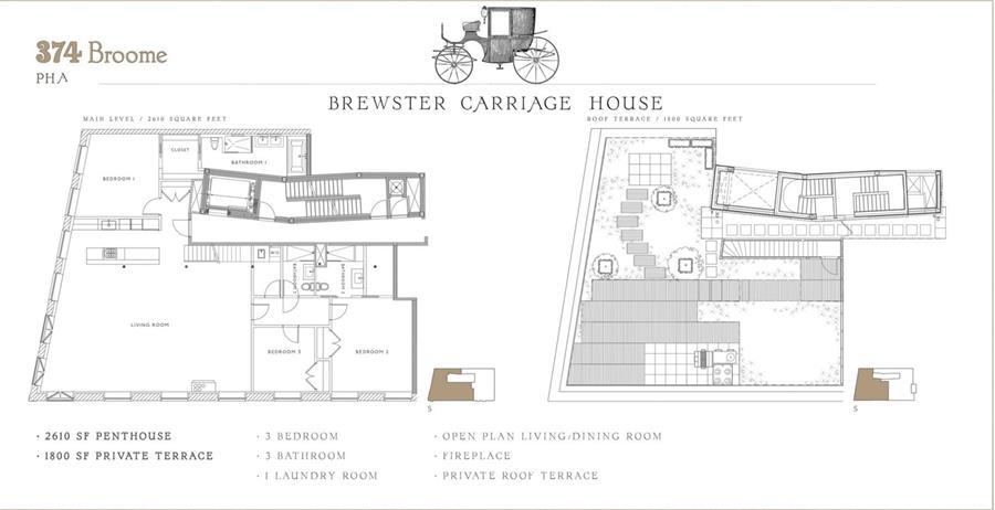 Floor plan of 374 Broome St, PHA - SoHo - Nolita, New York