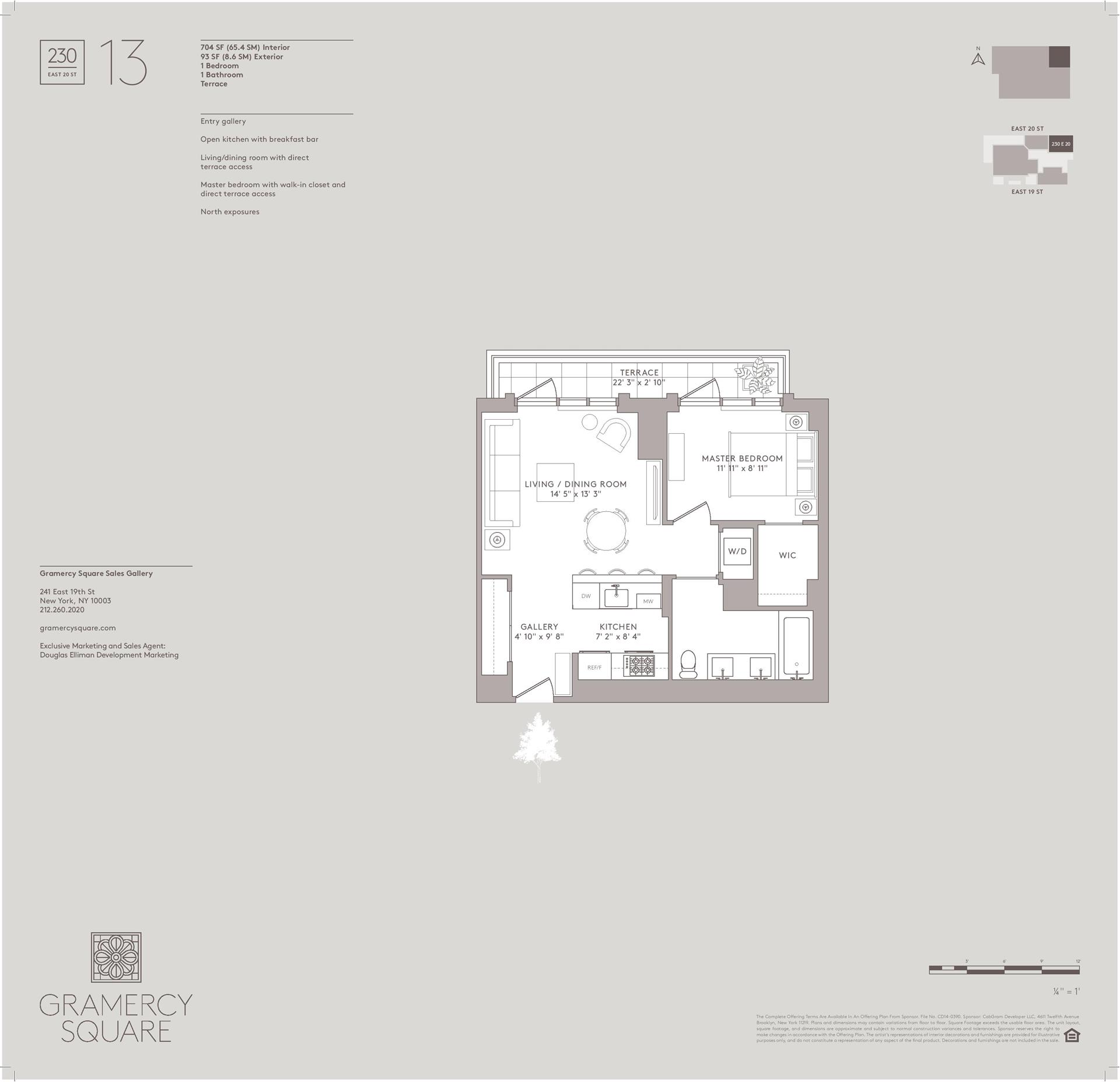 Floor plan of Gramercy Square, 230 East 20th St, 13 - Gramercy - Union Square, New York
