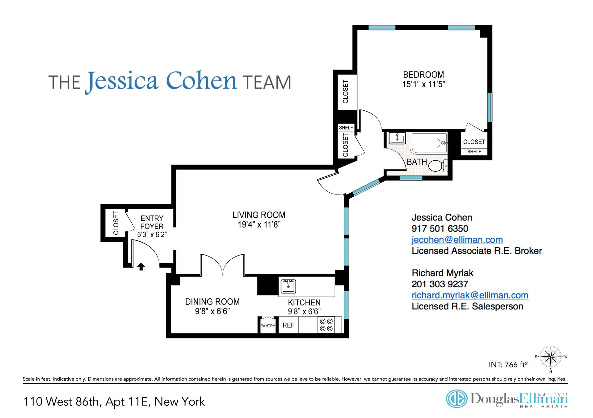 Floor plan of 110 West 86th St, 11E - Upper West Side, New York