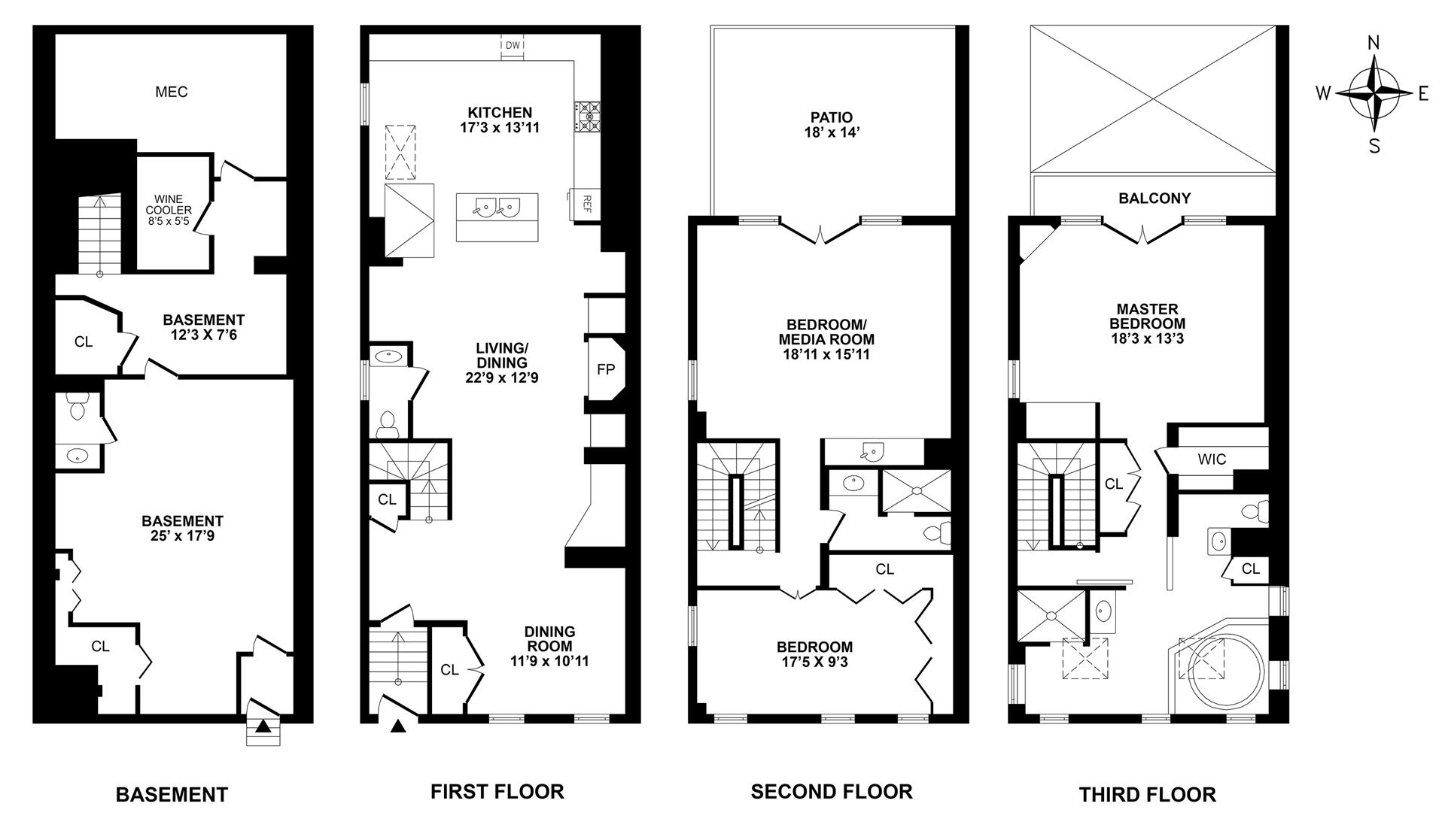 Floor plan of 514 Broome St - SoHo - Nolita, New York