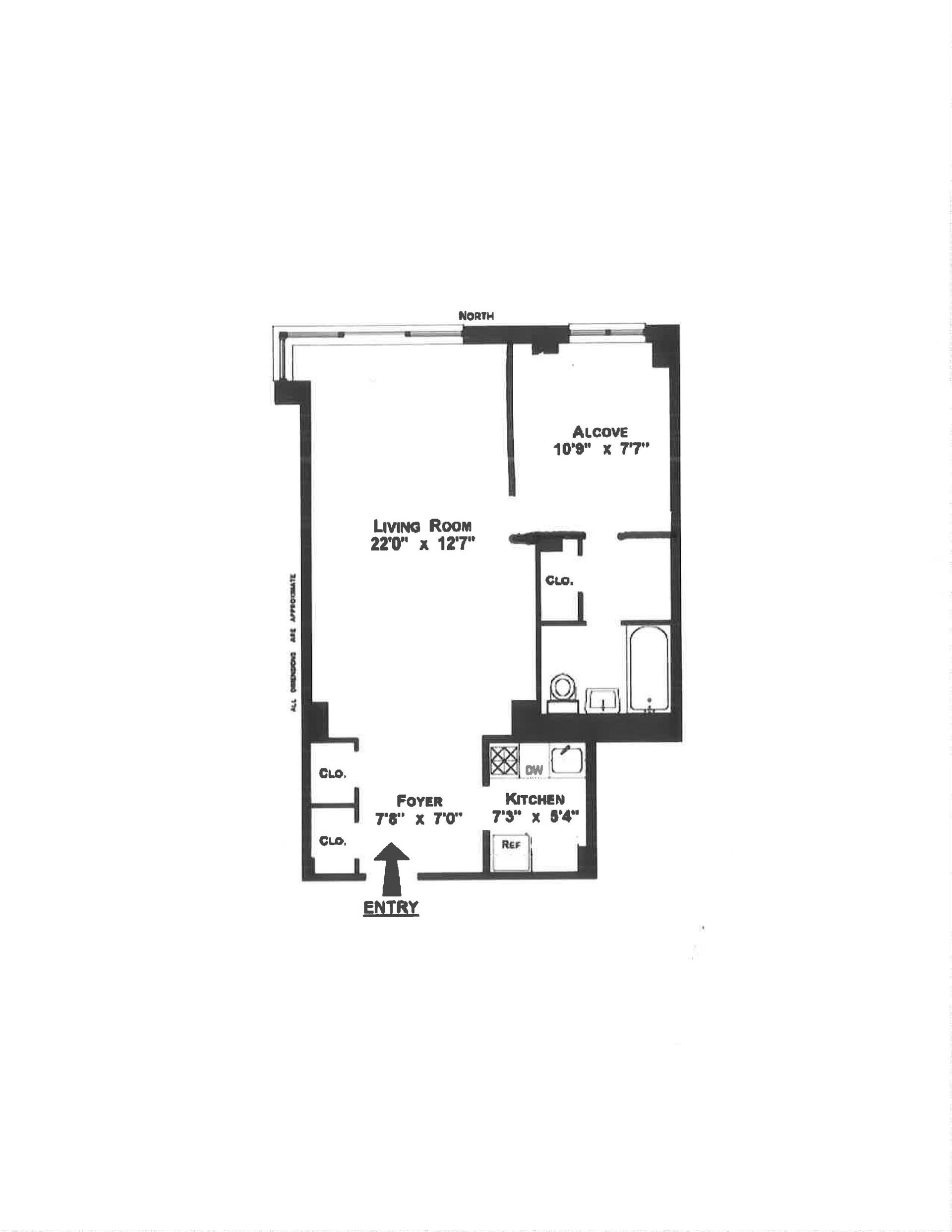 Floor plan of 405 East 63rd St, 1M - Upper East Side, New York