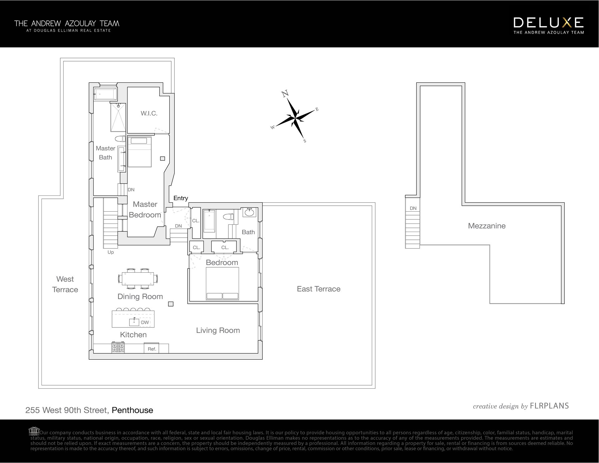Floor plan of Cornwall, 255 West 90th St, PH - Upper West Side, New York