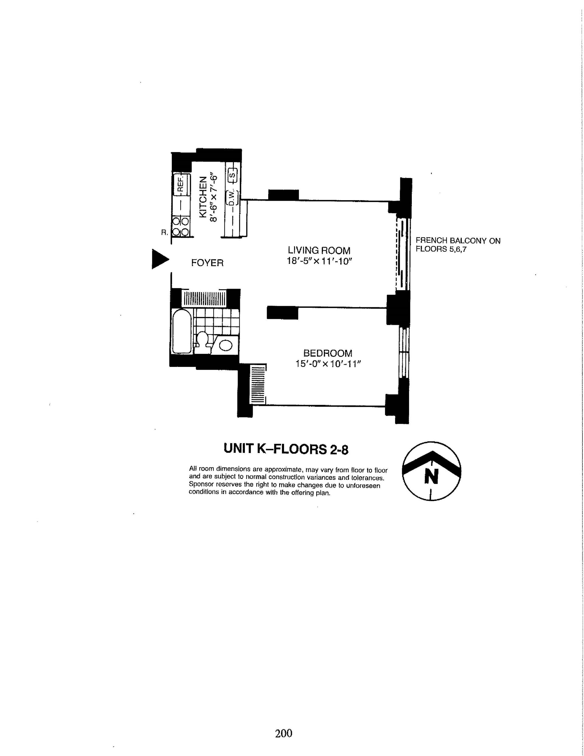 Floor plan of Liberty Residences, 380 Rector Pl, 4K - Battery Park City, New York