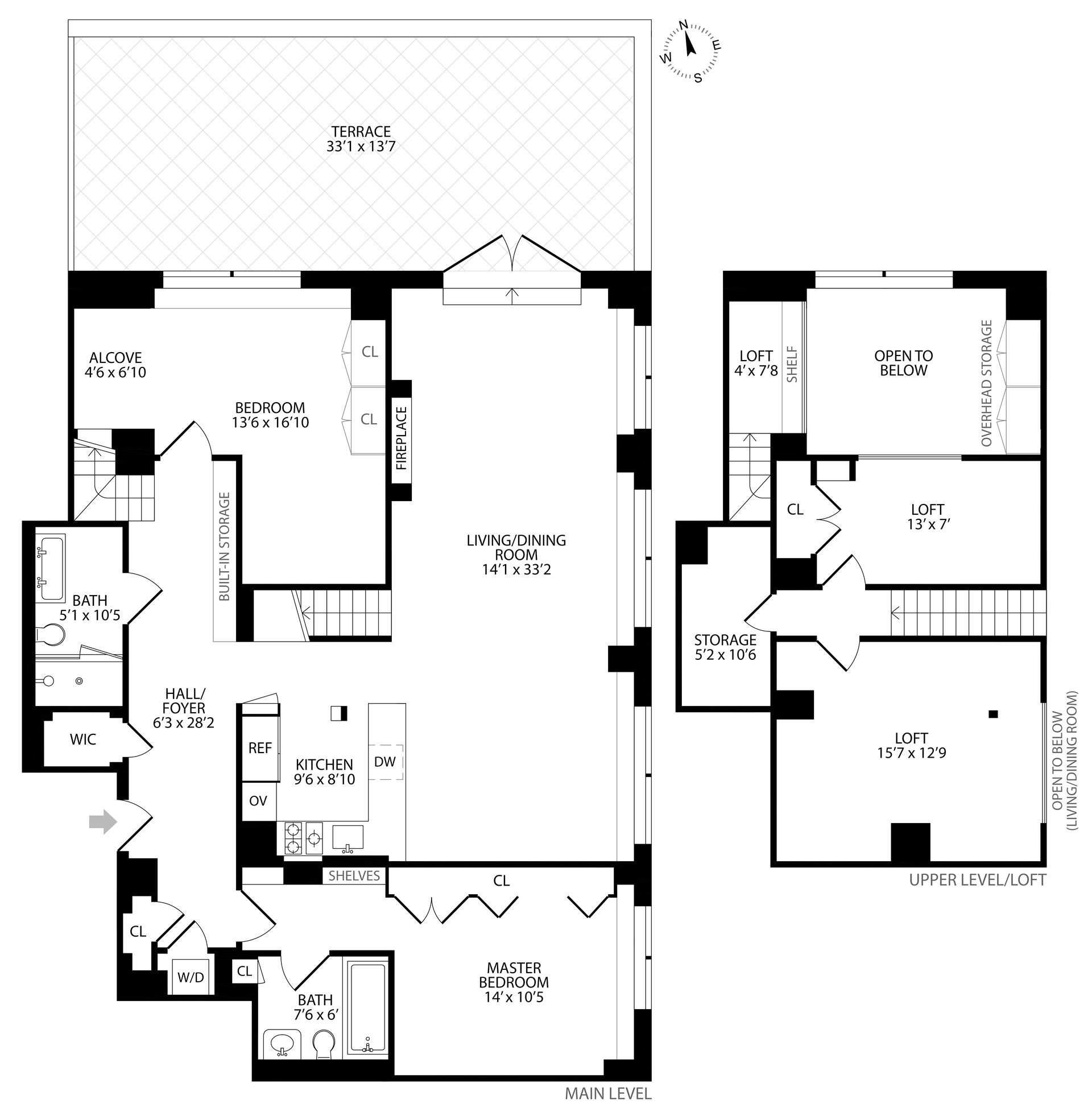 Floor plan of 120 East 87th St, R10A - Carnegie Hill, New York