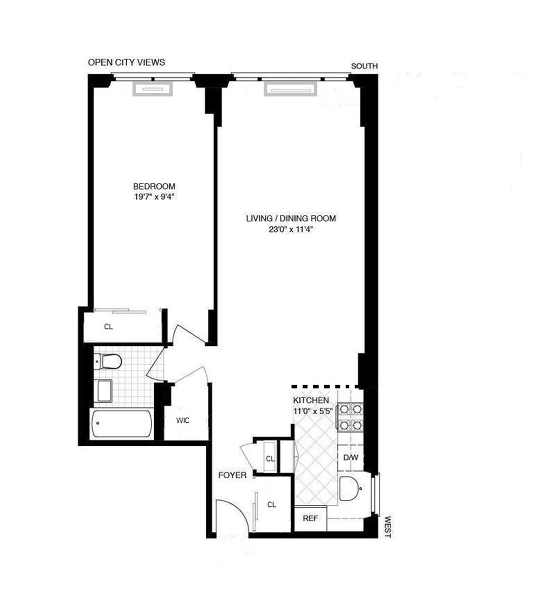 Floor plan of BELMONT 79, 230 East 79th St, 10A - Upper East Side, New York