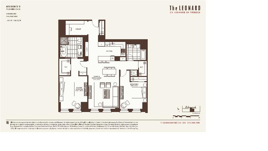 Floor plan of 101 Leonard Street, 5D - TriBeCa, New York