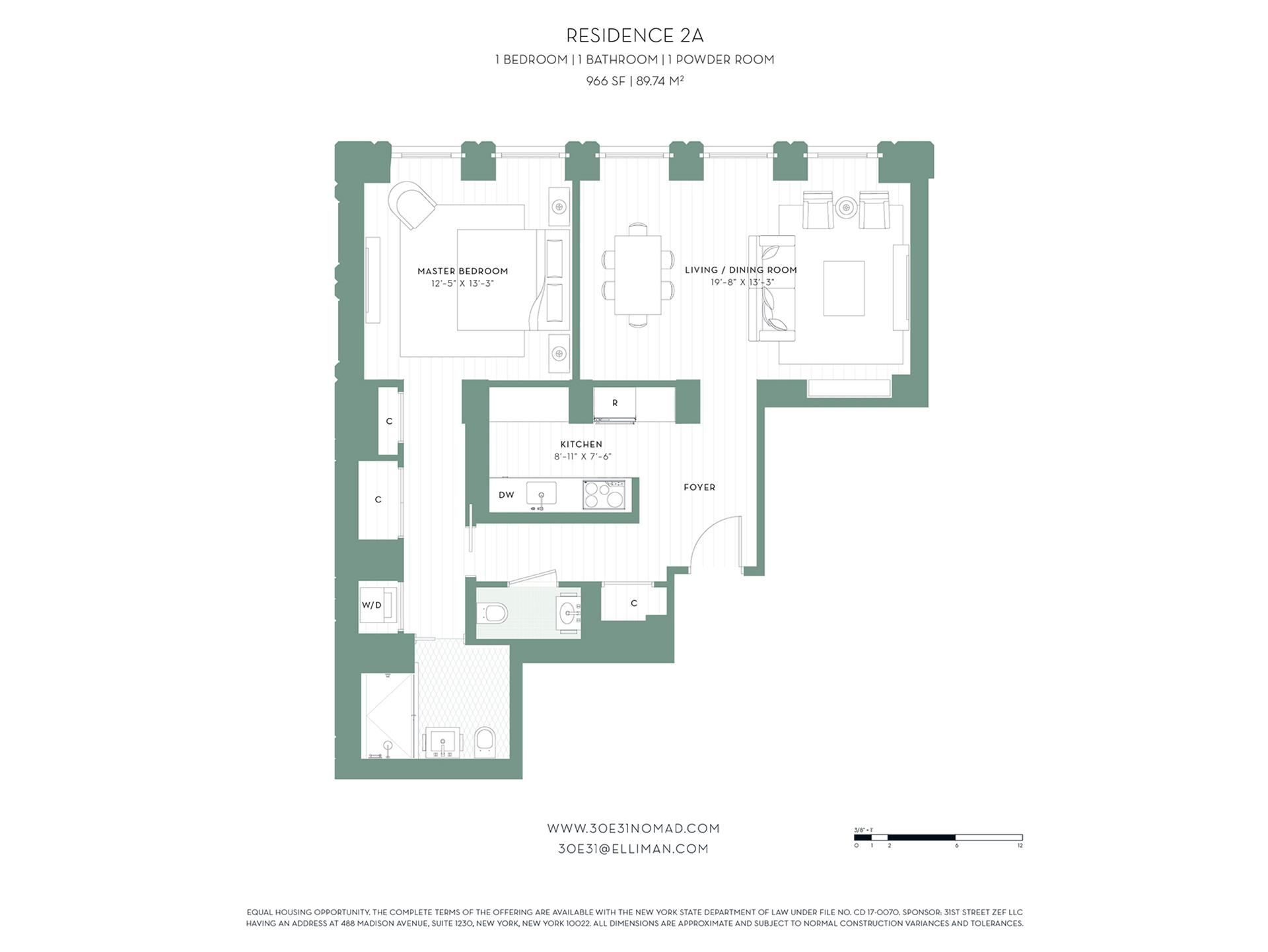 Floor plan of 30 East 31st St, 2A - Midtown, New York