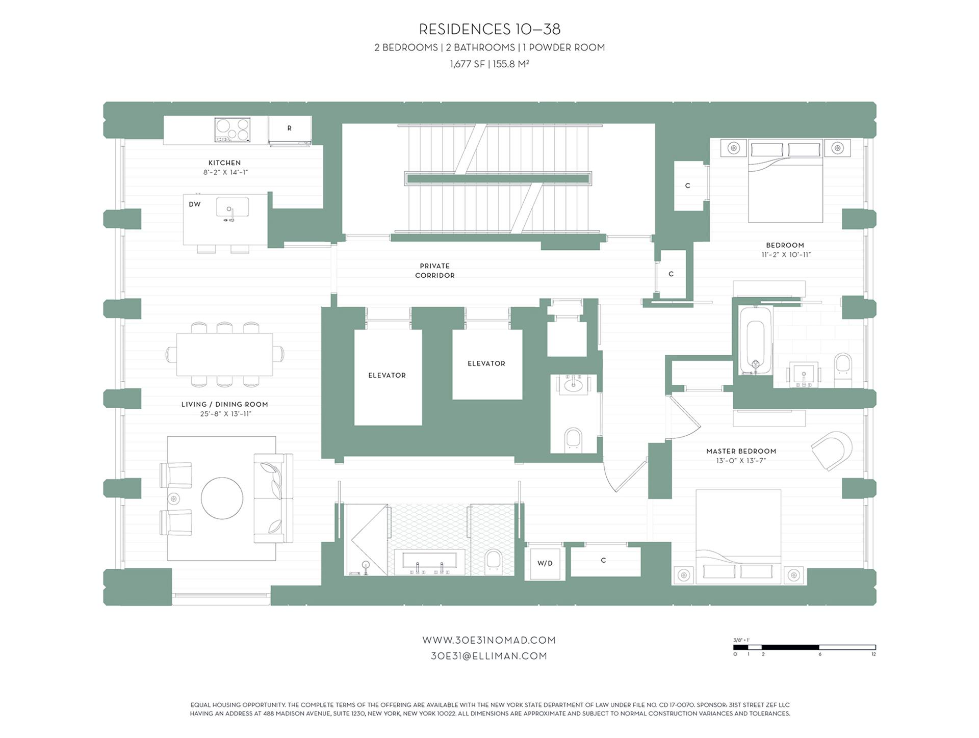 Floor plan of 30 East 31st St, 11 - Midtown, New York