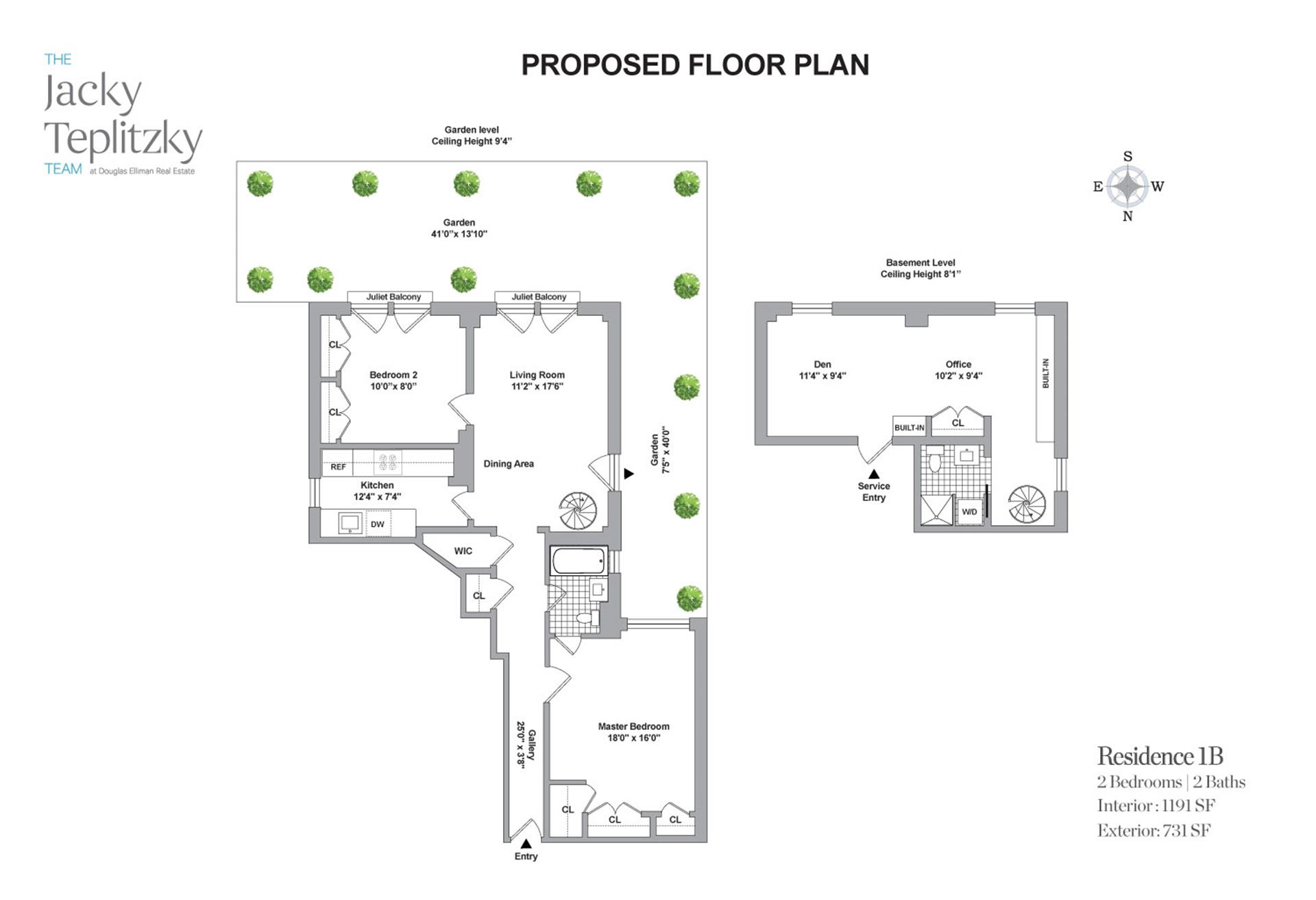 Floor plan of 24 West 69th St, 1B - Upper West Side, New York