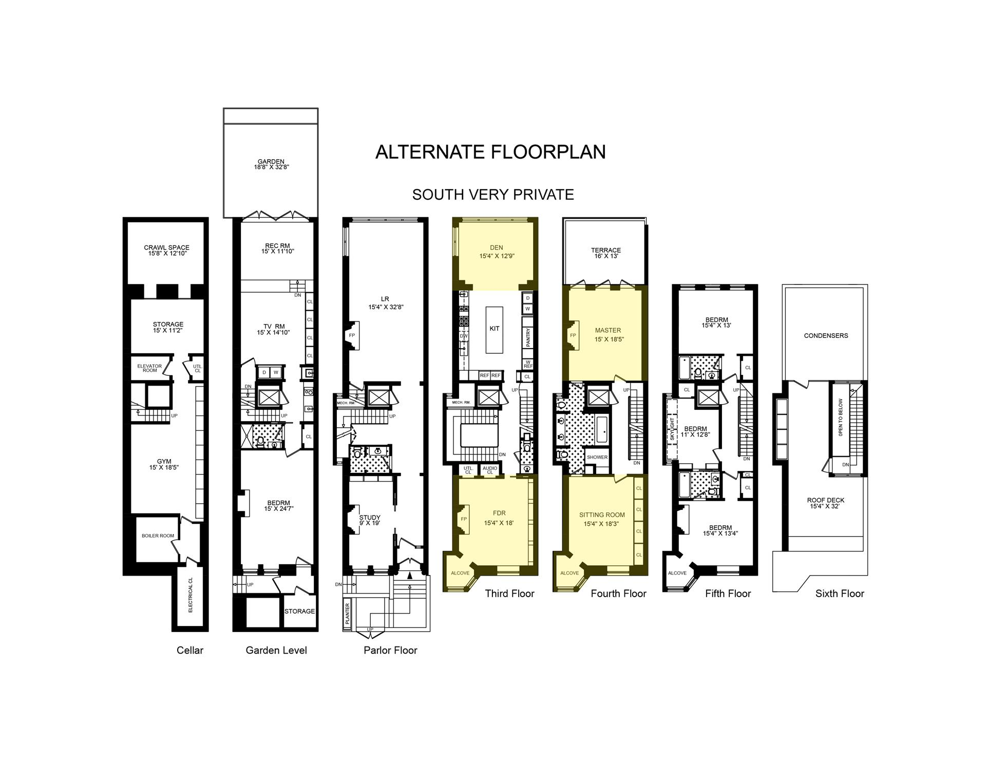 Floor plan of 10 East 92nd St - Carnegie Hill, New York