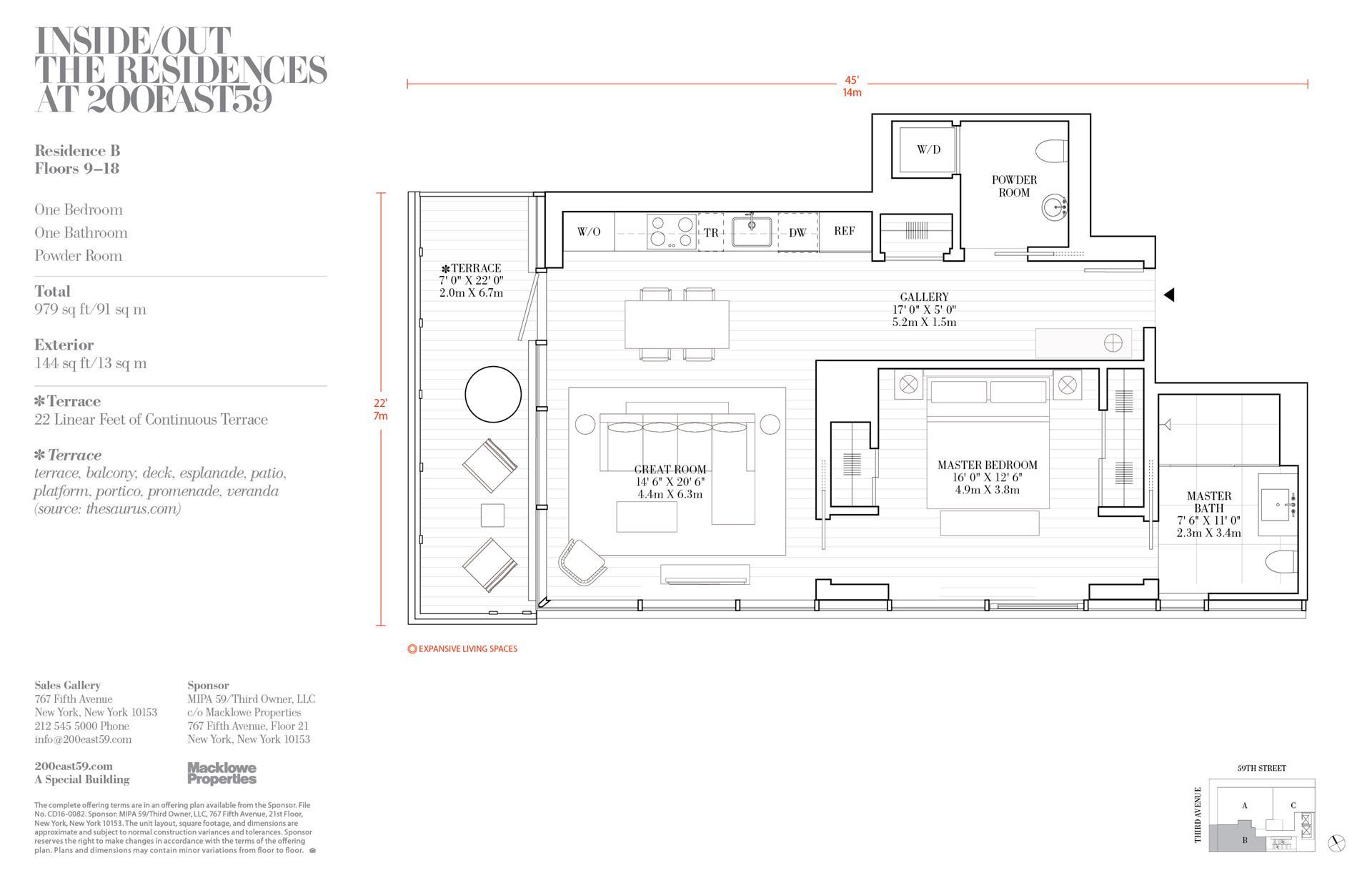 Floor plan of 200 East 59th St, 12B - Midtown, New York