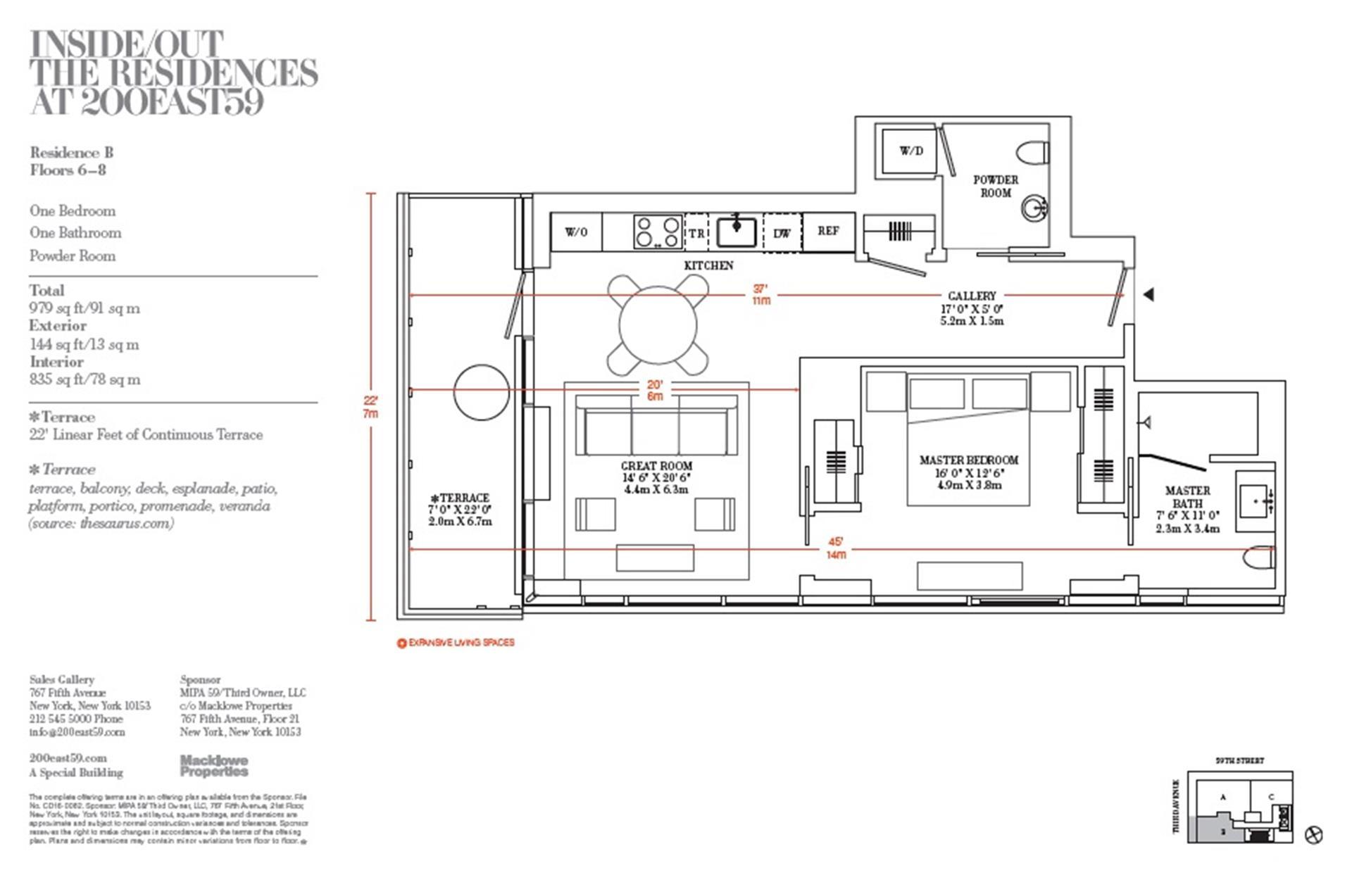 Floor plan of 200 East 59th St, 5B - Midtown, New York