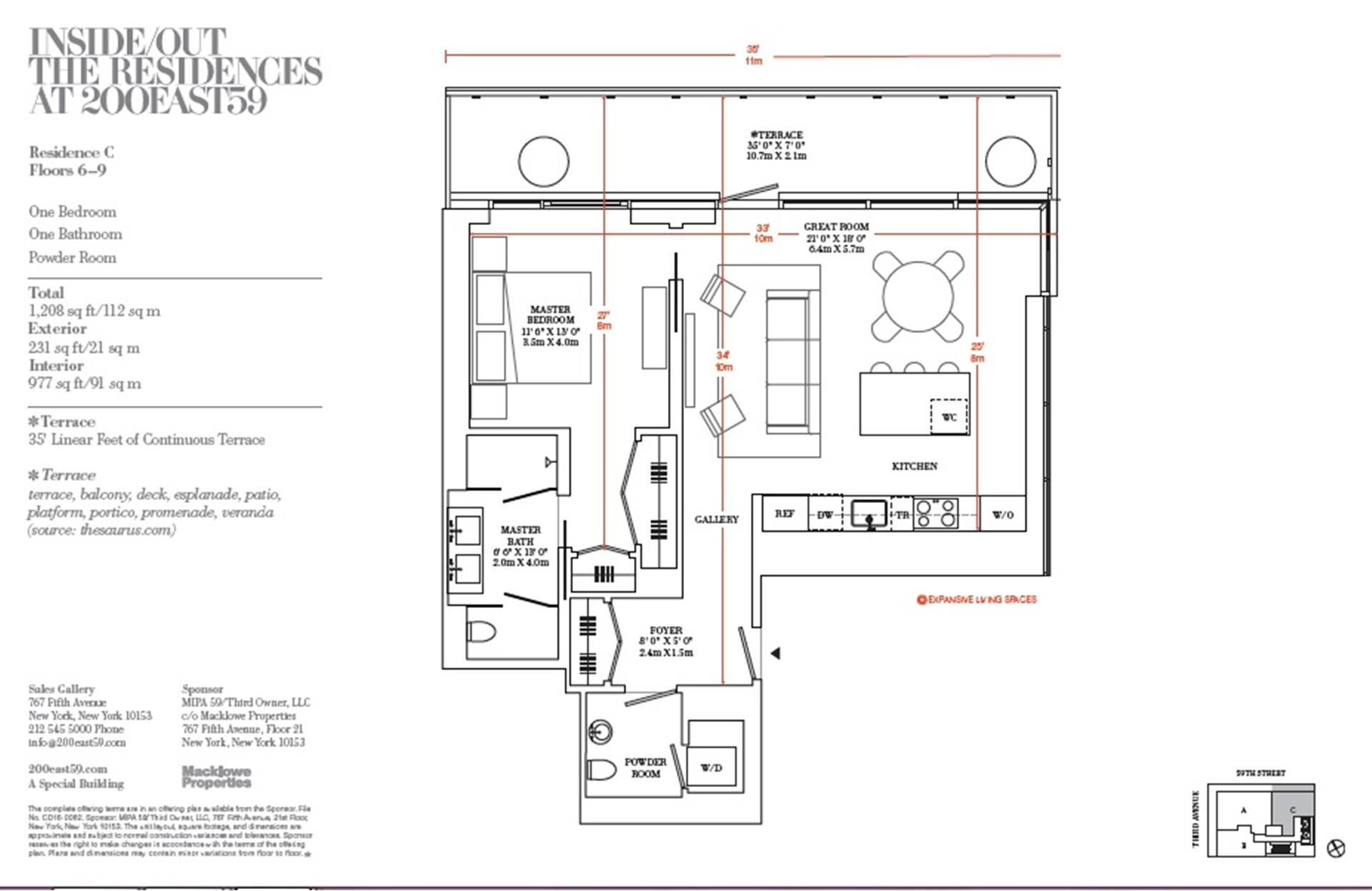 Floor plan of 200 East 59th St, 8C - Midtown, New York