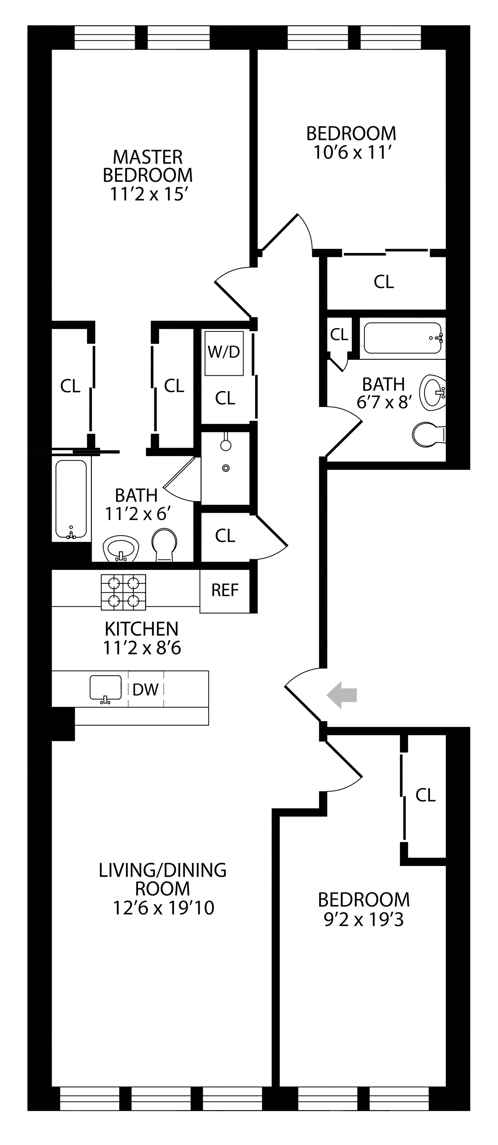 Floor plan of 197 22nd St, 2 - Greenwood, New York