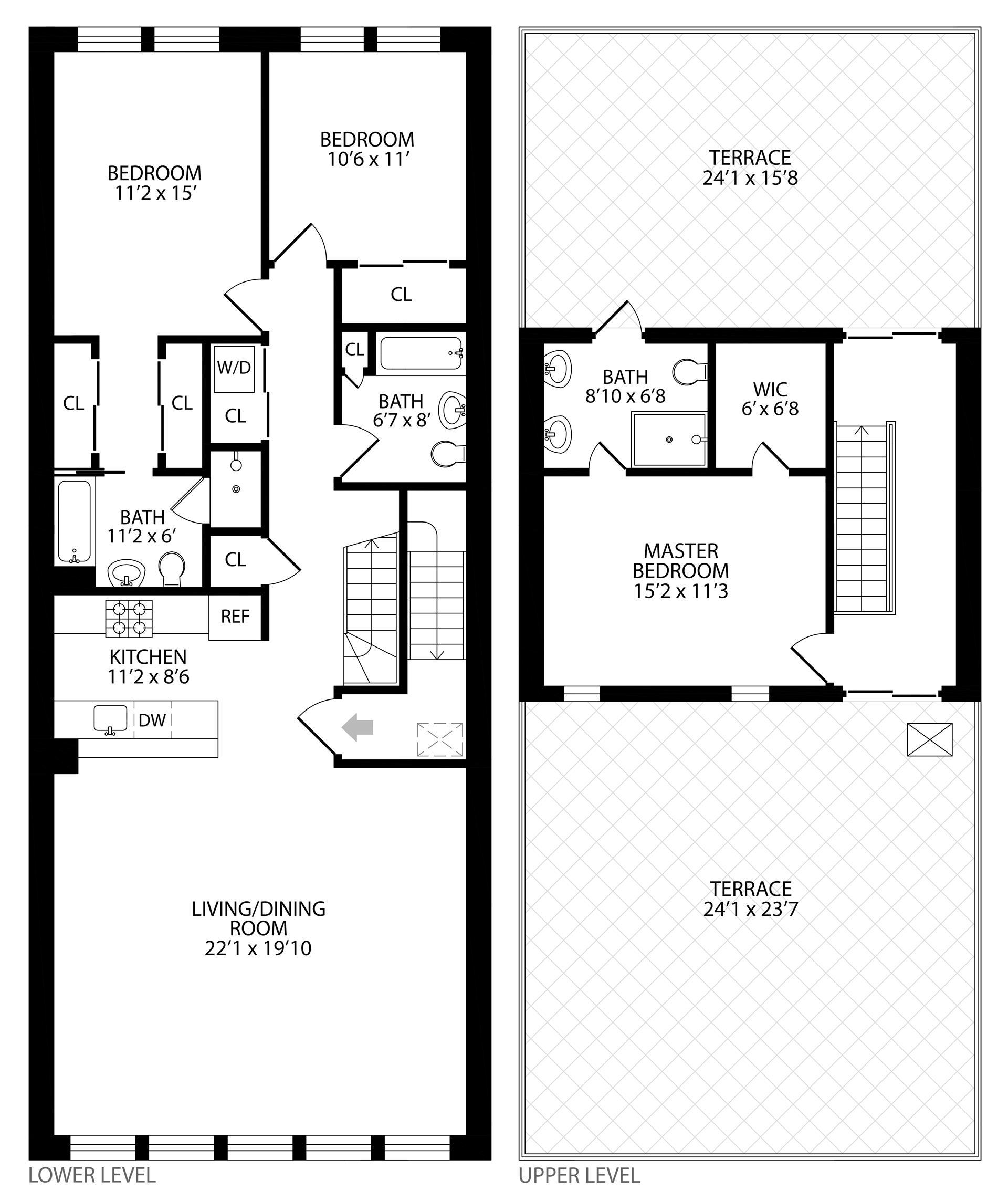 Floor plan of 197 22nd St, 3 - Greenwood, New York
