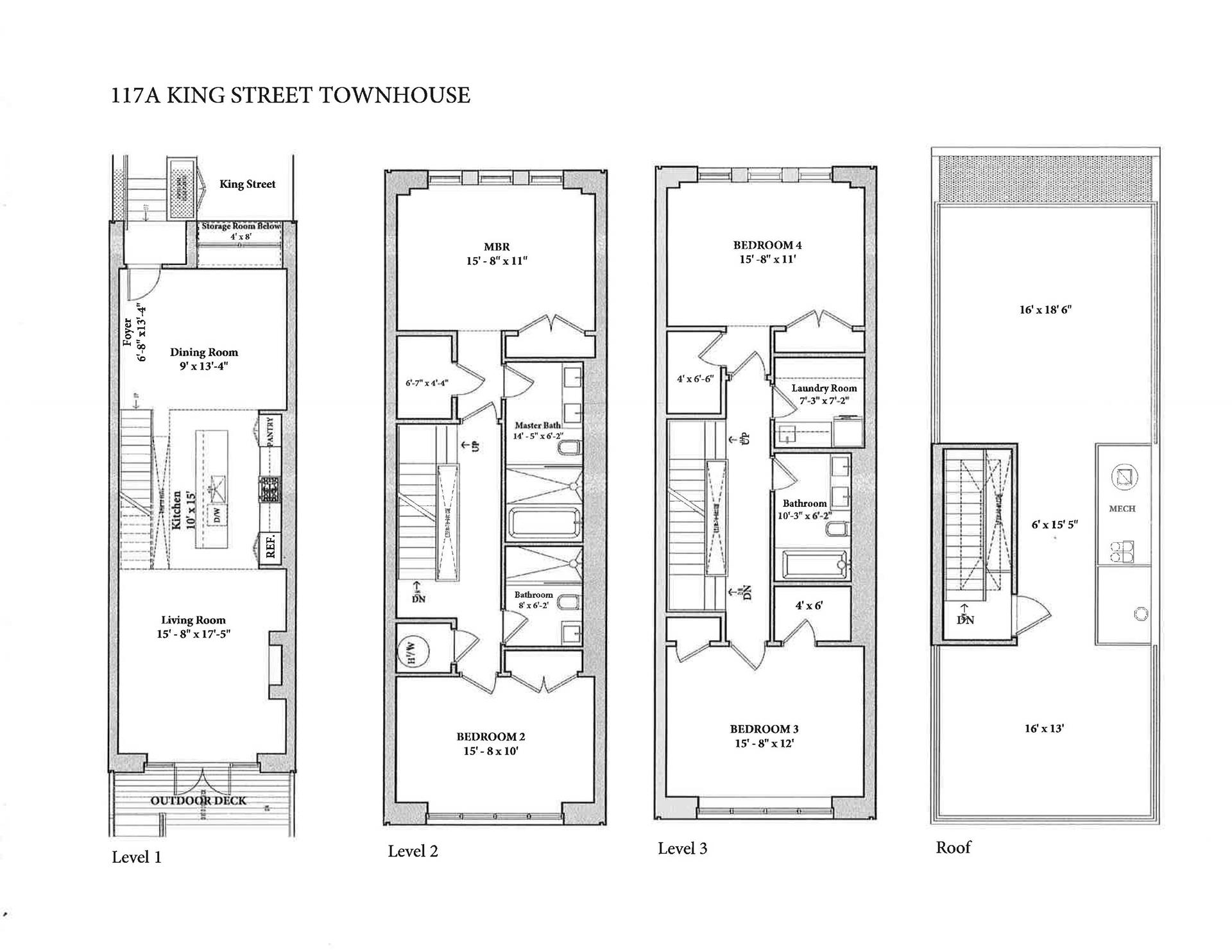 Floor plan of 117A King St - Red Hook, New York