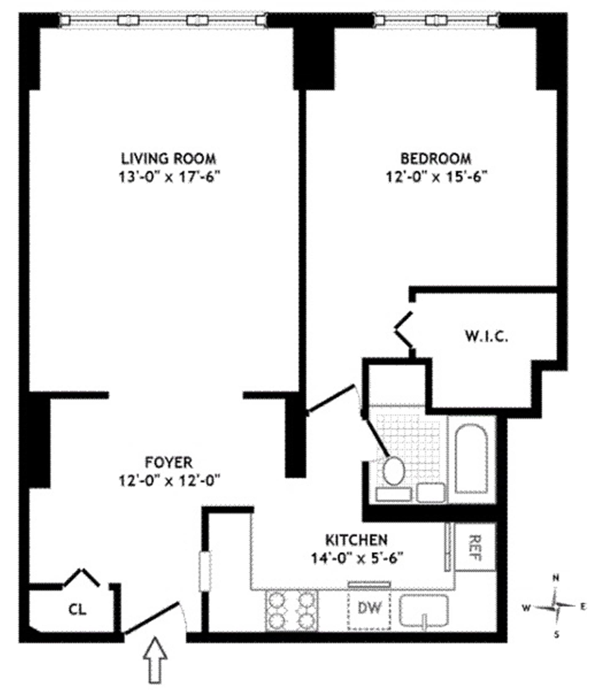 Floor plan of 196 East 75th St, 4B - Upper East Side, New York