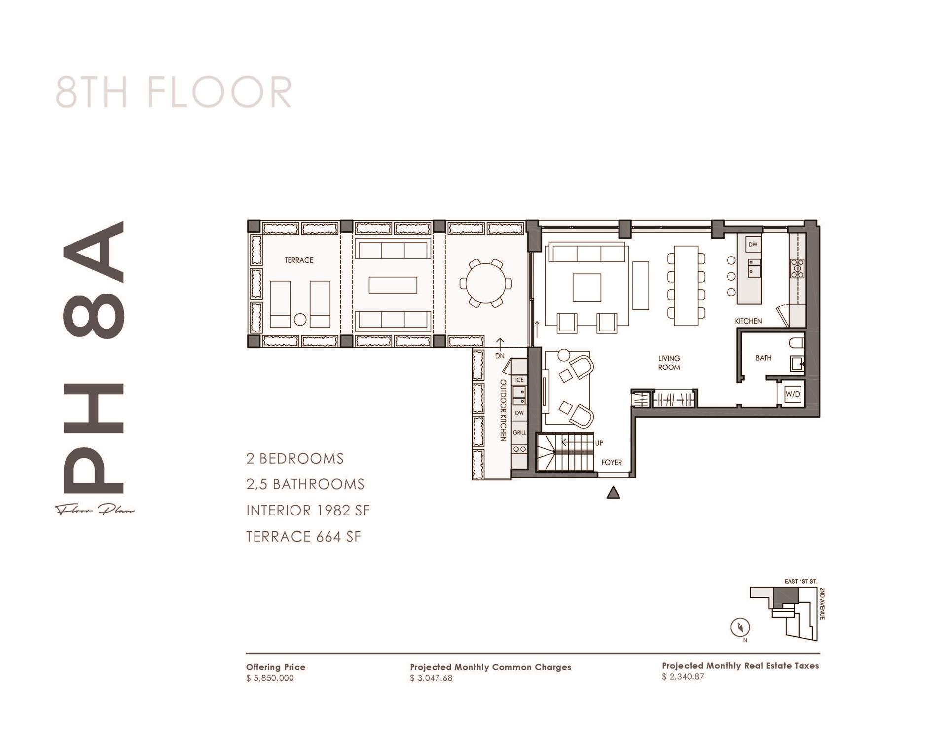 Floor plan of 32 East 1st St, PH8A - East Village, New York