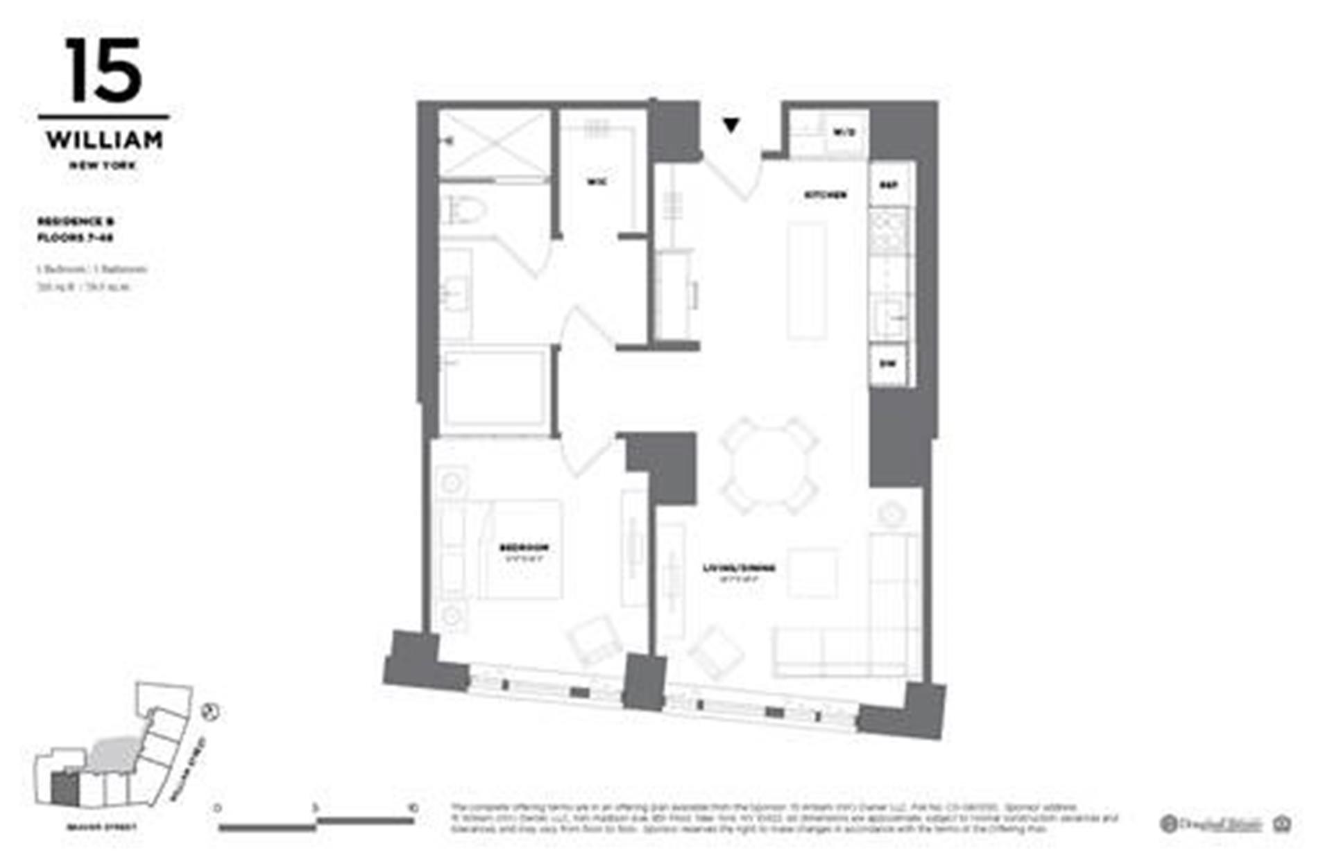 Floor plan of 15 William, 15 William Street, 39I - Financial District, New York