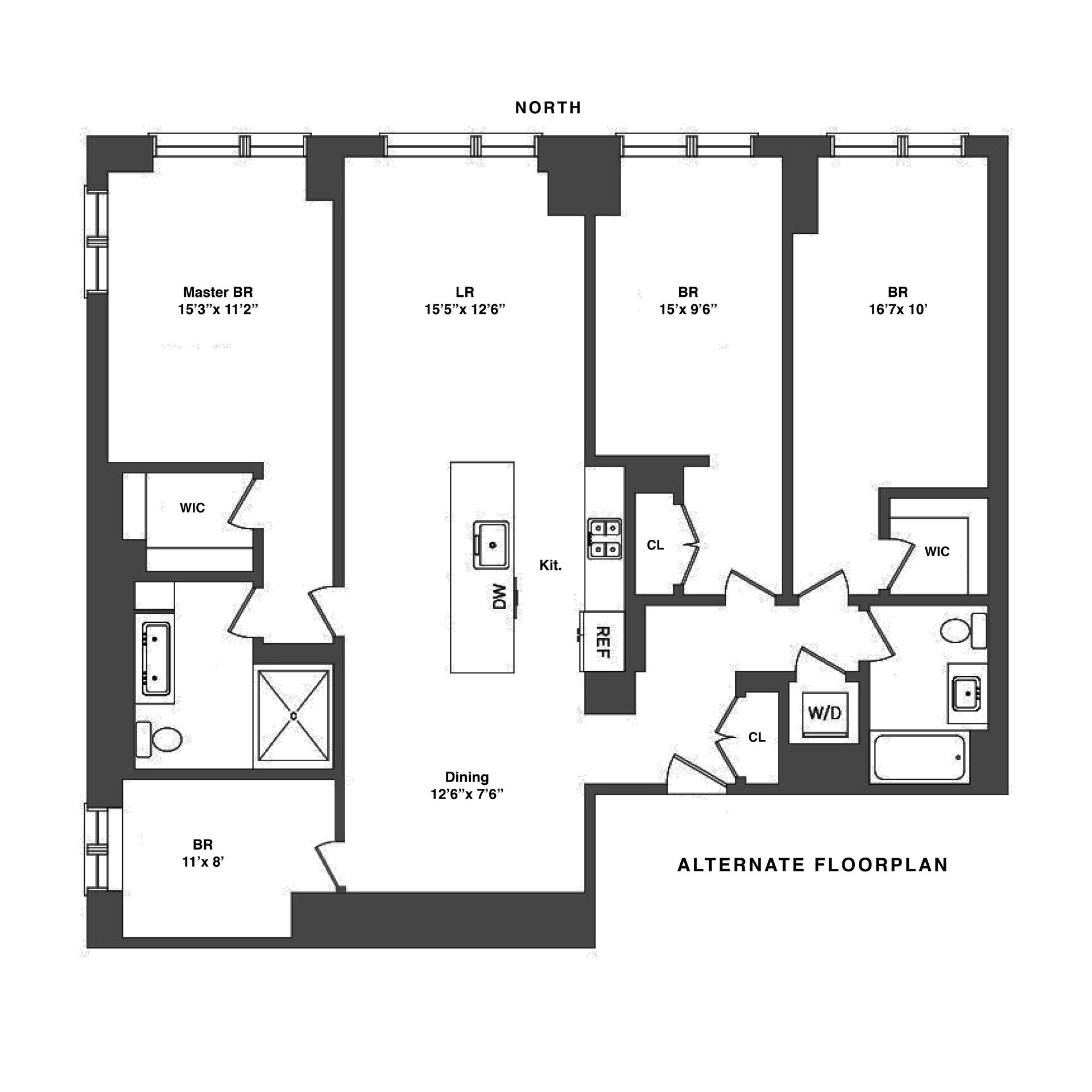 Floor plan of THE ADELINE, 23 West 116TH ST, 5A - Harlem, New York