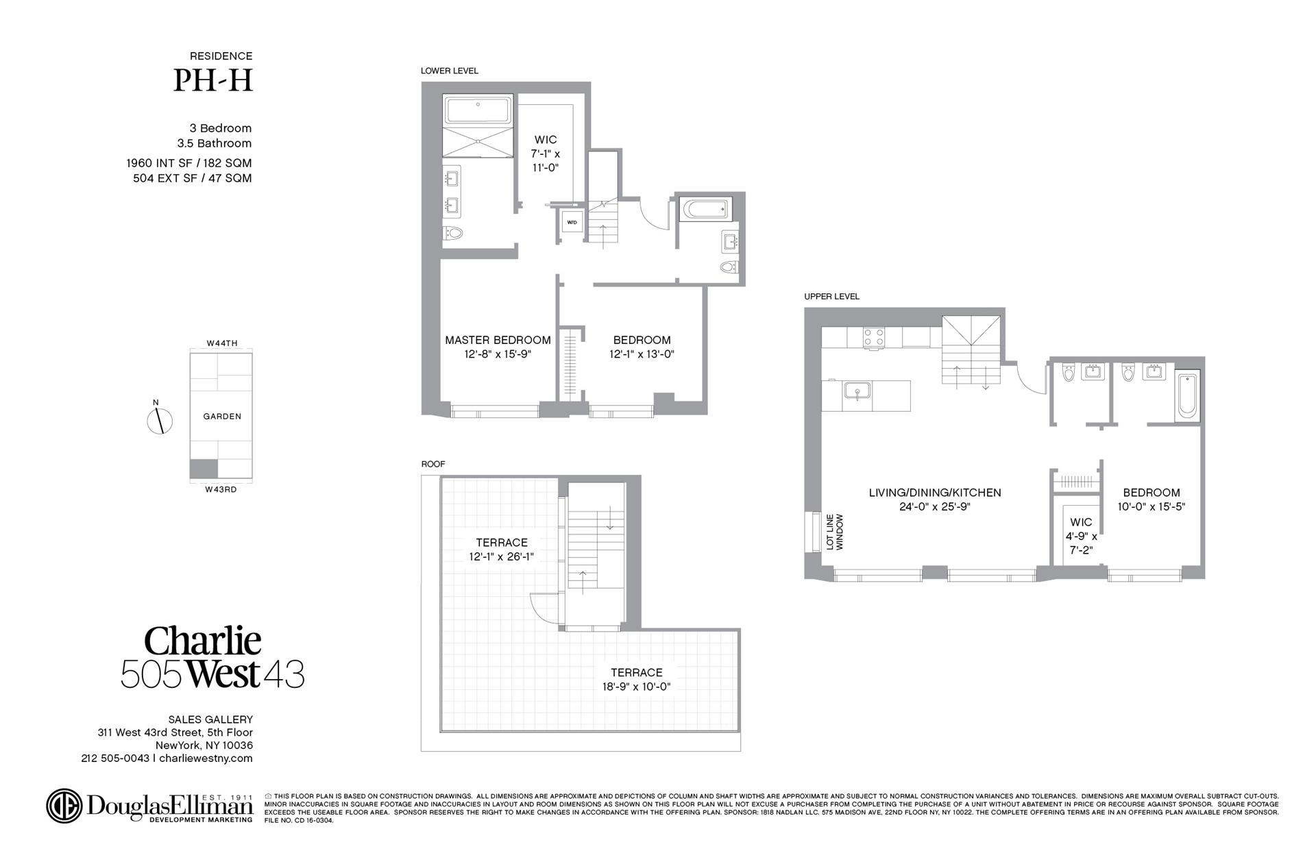 Floor plan of 505 West 43rd St, PHH - Clinton, New York