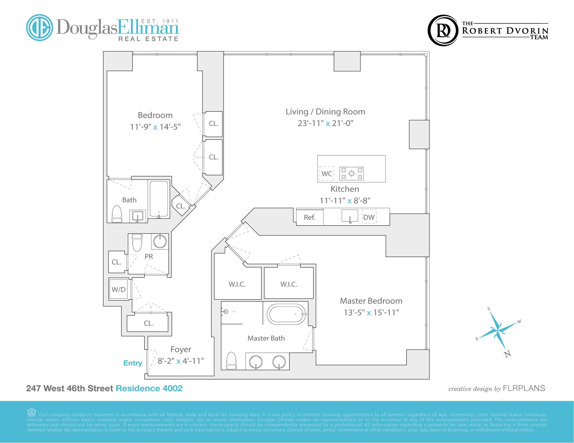 Floor plan of Platinum, 247 West 46th St, 4002 - Midtown, New York