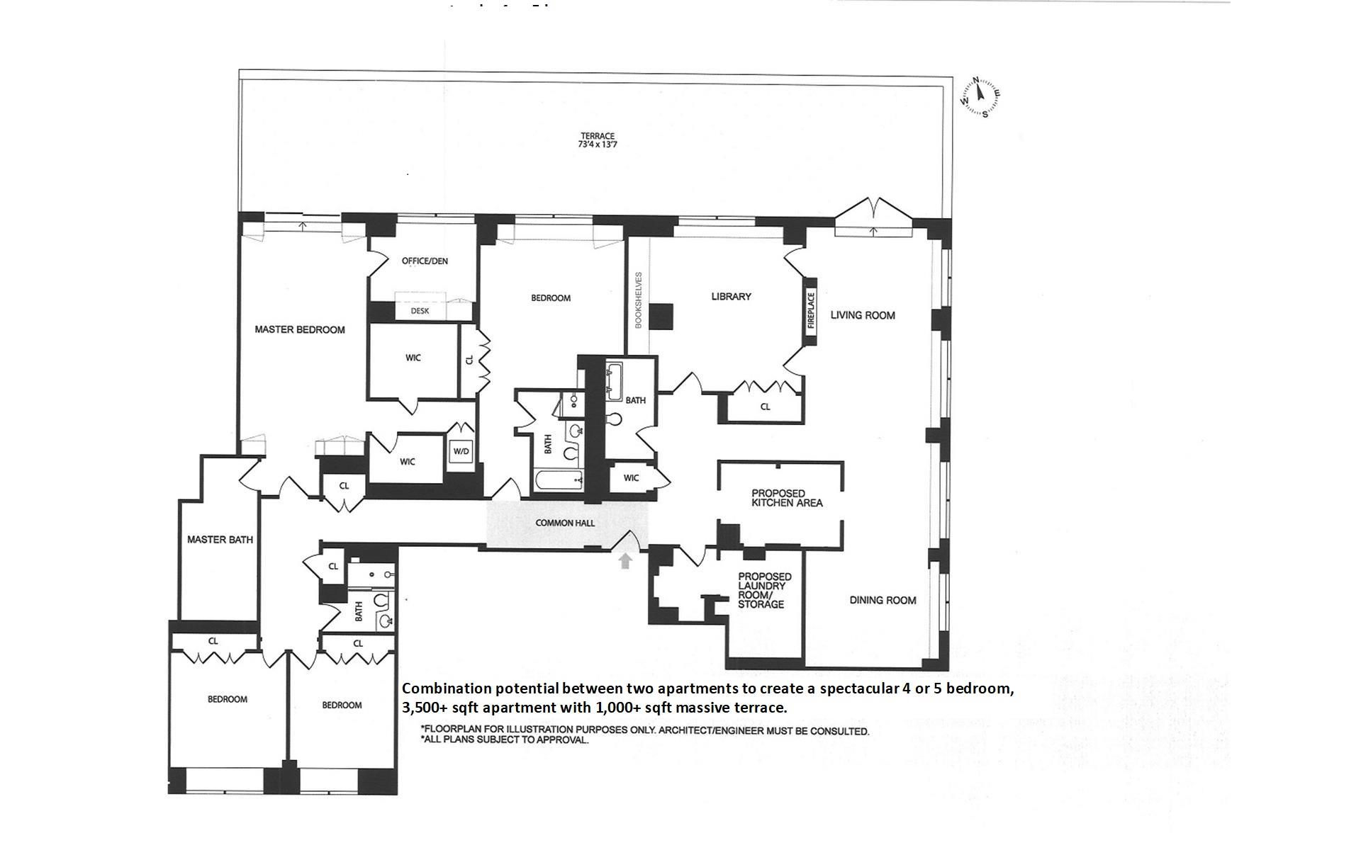 Floor plan of 120 East 87th St, R10LA - Carnegie Hill, New York