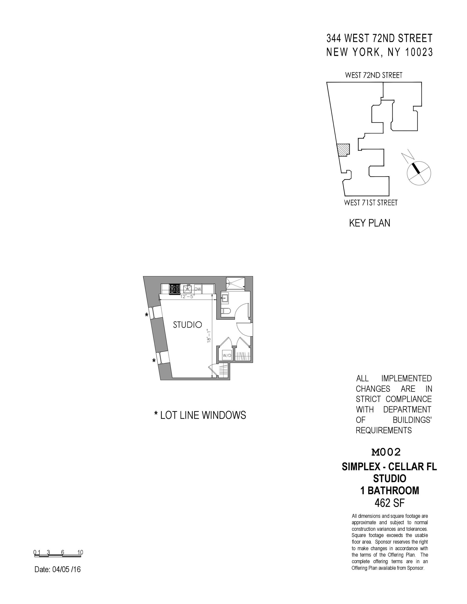 Floor plan of The Chatsworth, 344 West 72nd St, M002 - Upper West Side, New York