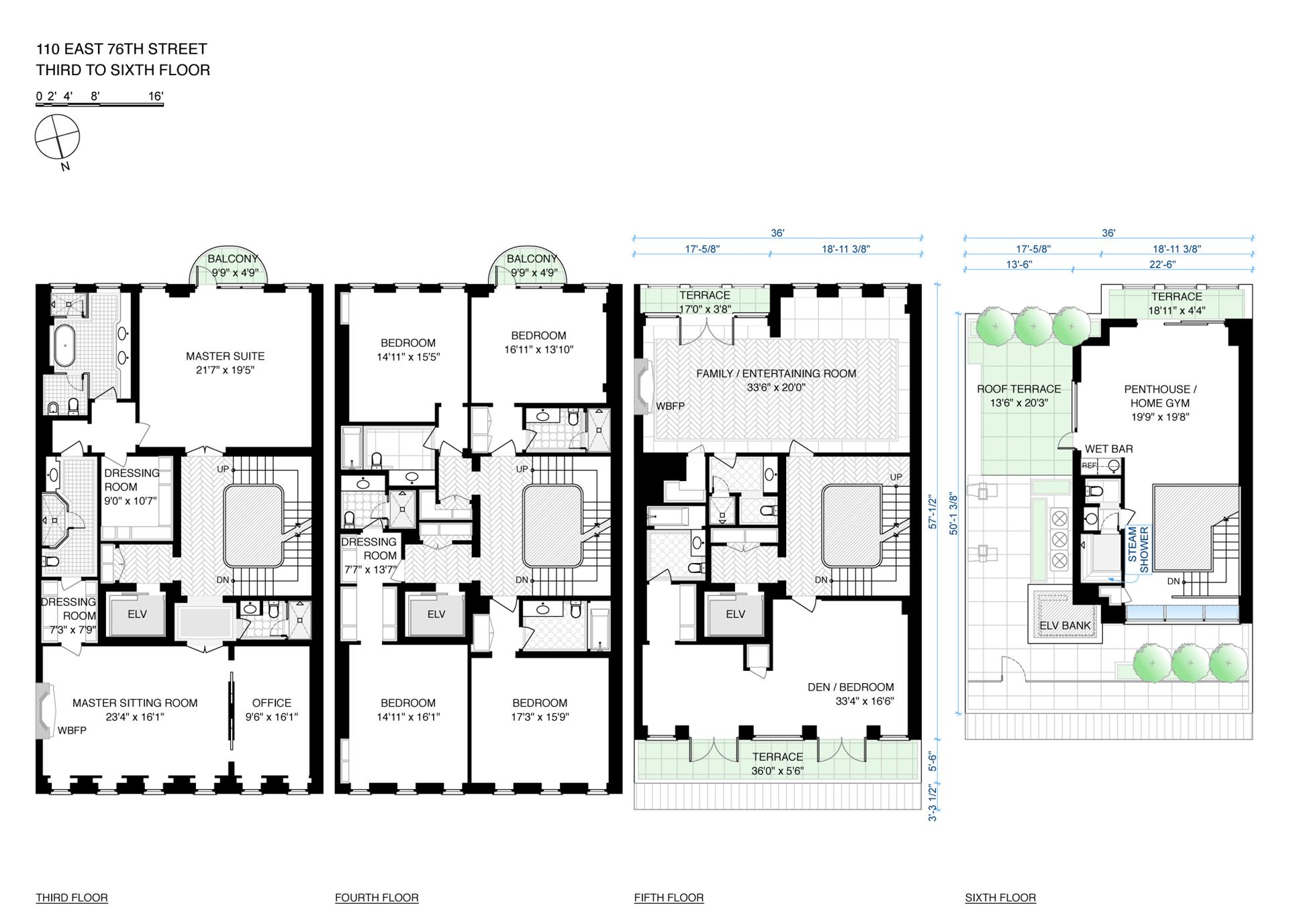 Floor plan of 110 East 76th St - Upper East Side, New York