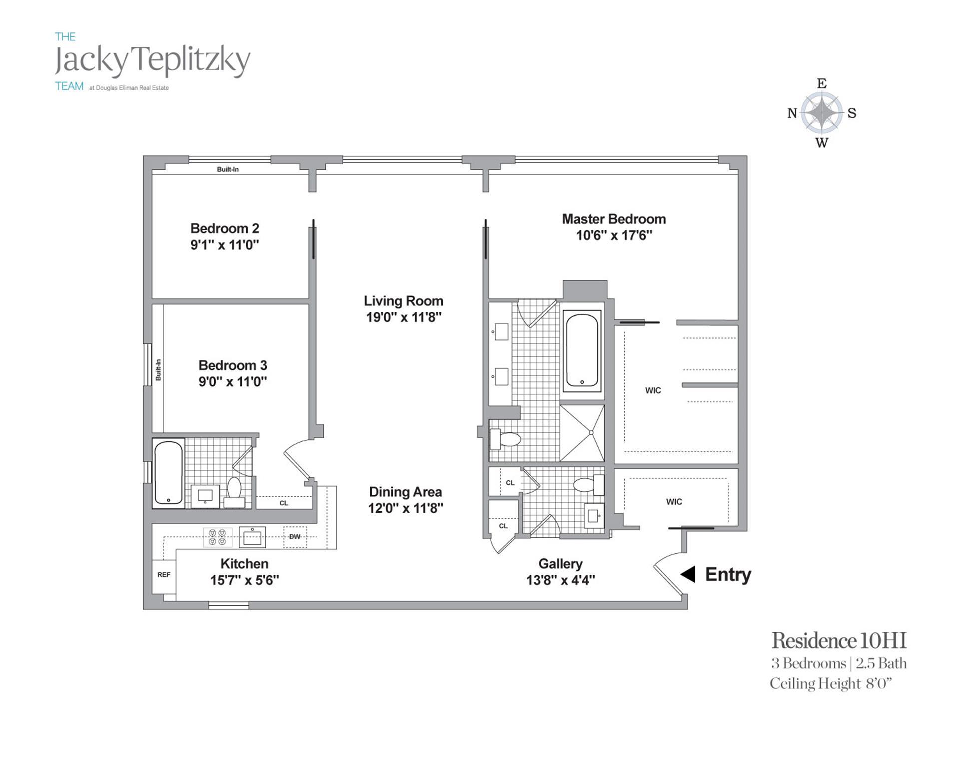 Floor plan of 241 East 76th St, 10HI - Upper East Side, New York