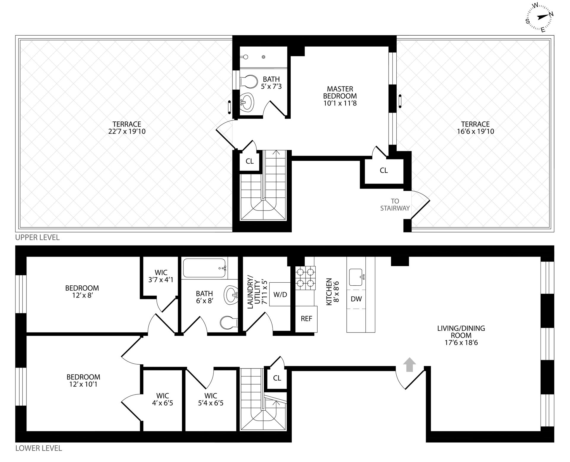 Floor plan of 96 4th Pl, 4 - Carroll Gardens, New York