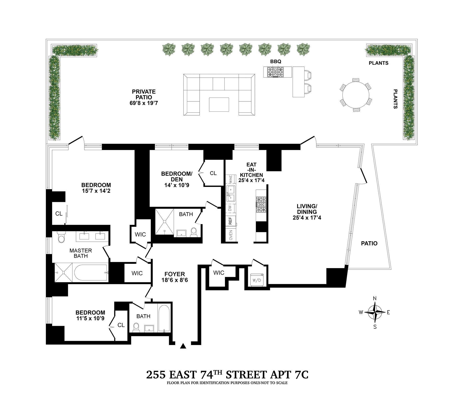 Floor plan of CASA 74, 255 East 74th St, 7C - Upper East Side, New York
