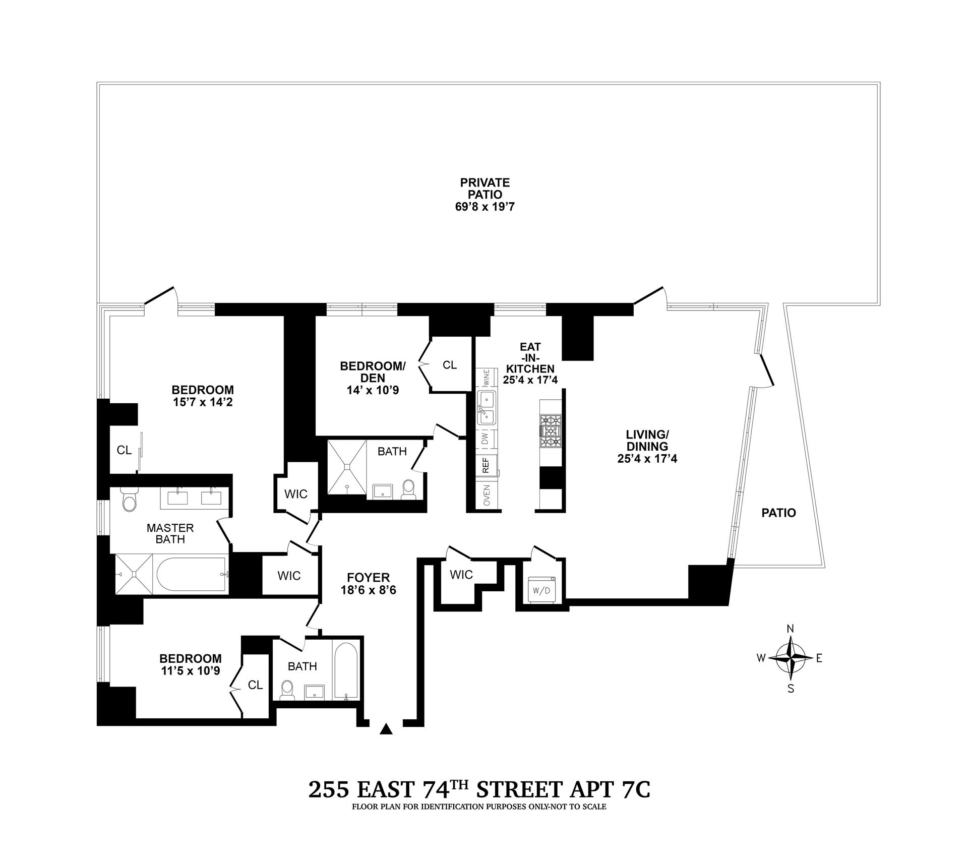 Floor plan of CASA 74, 255 East 74th St, 7C - Upper East Side, New York