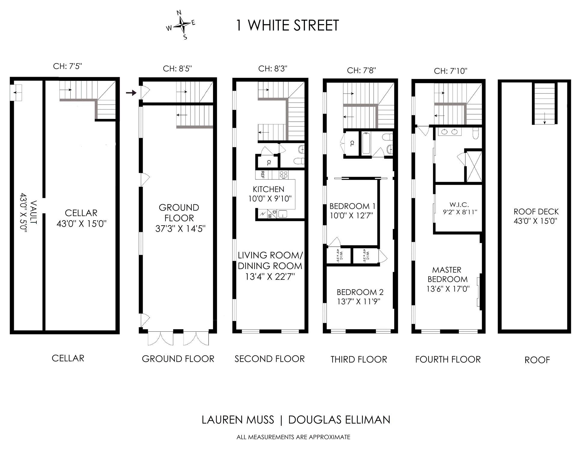 Floor plan of 1 White St - TriBeCa, New York
