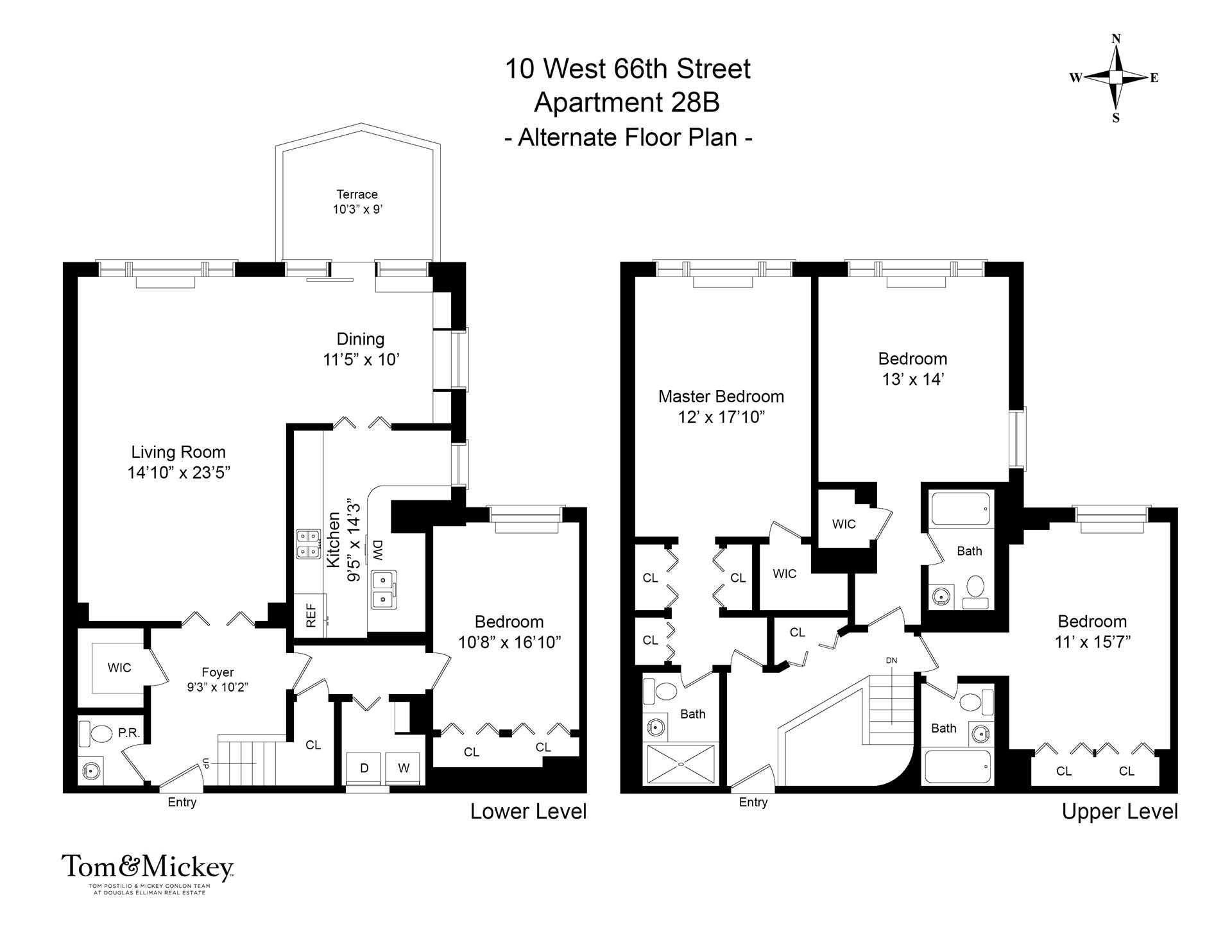 Floor plan of PARK TEN, 10 West 66th St, 28B - Lincoln Square, New York