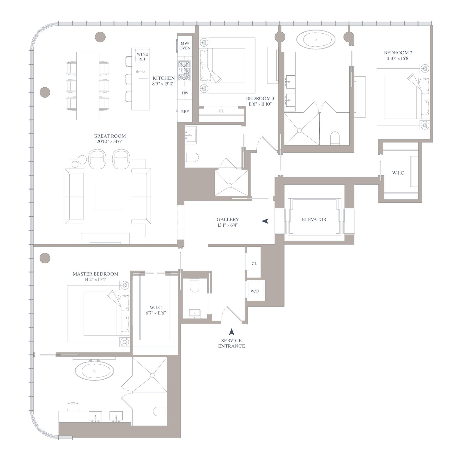 Floor plan of 565 Broome St, N23A - SoHo - Nolita, New York