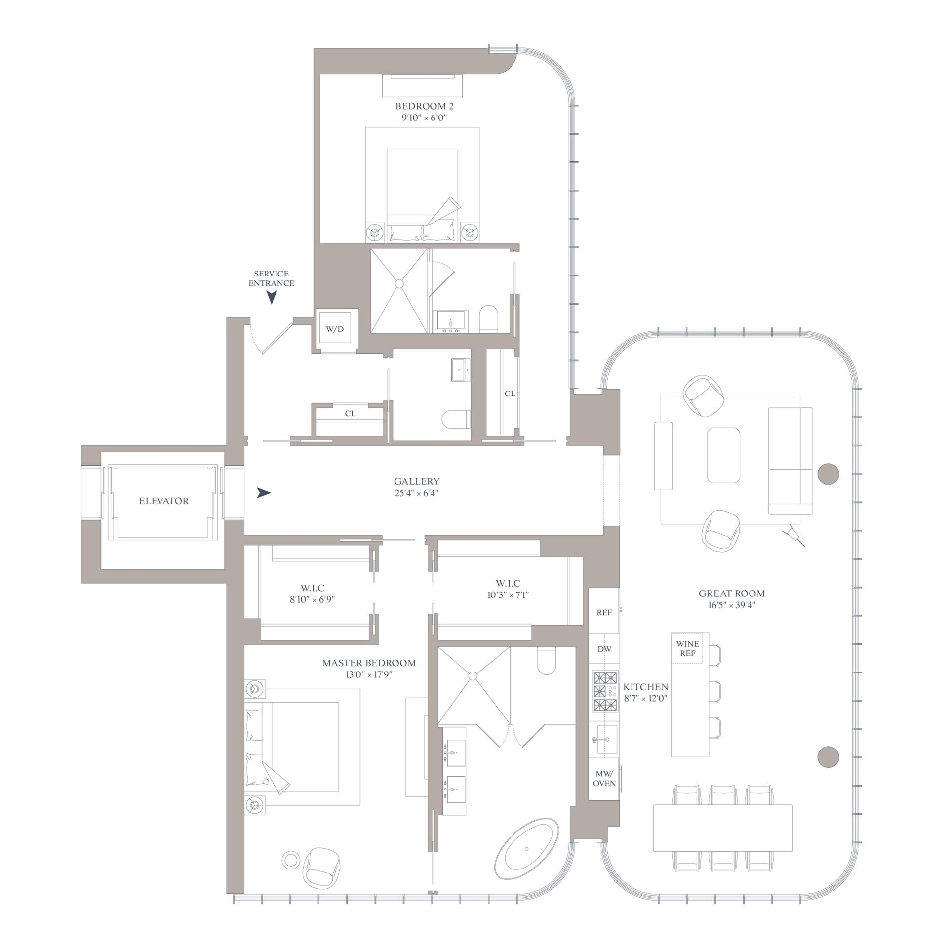 Floor plan of 565 Broome St, S26B - SoHo - Nolita, New York