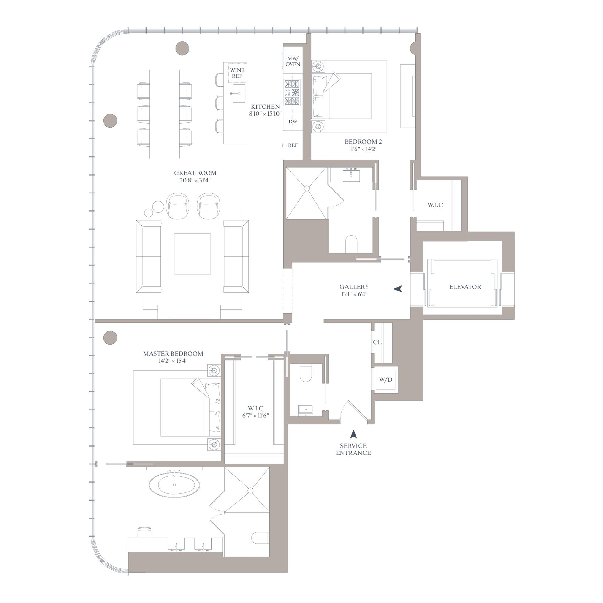Floor plan of 565 Broome St, N19A - SoHo - Nolita, New York