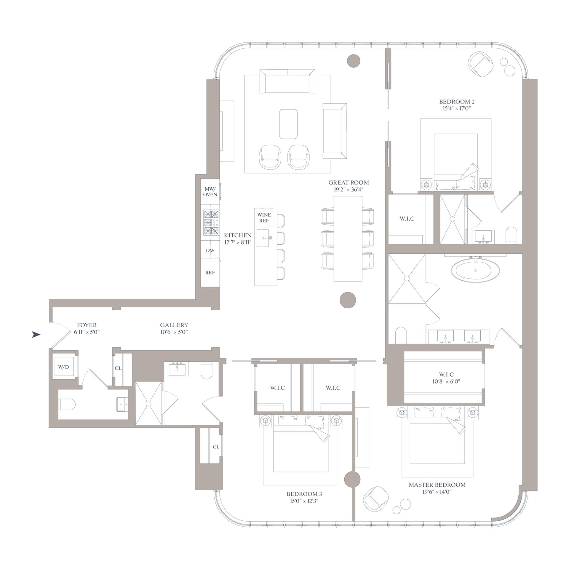 Floor plan of 565 Broome St, N8E - SoHo - Nolita, New York